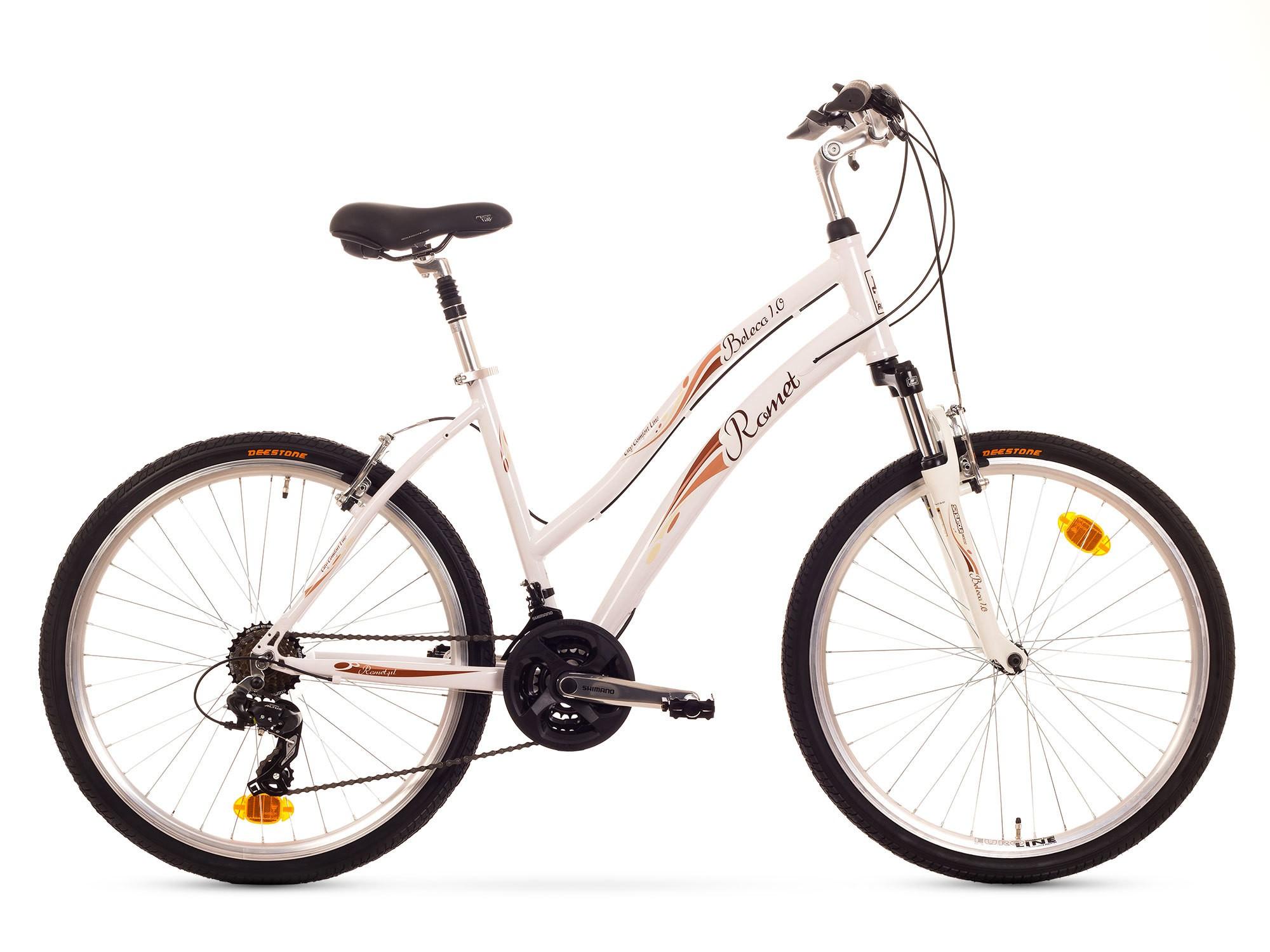 Bicicleta de oras Romet Beleco 1.0 - alb