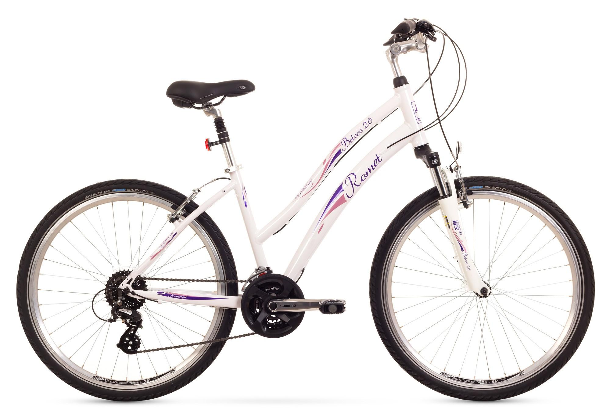 Bicicleta de oras Romet Beleco 2.0 - alb
