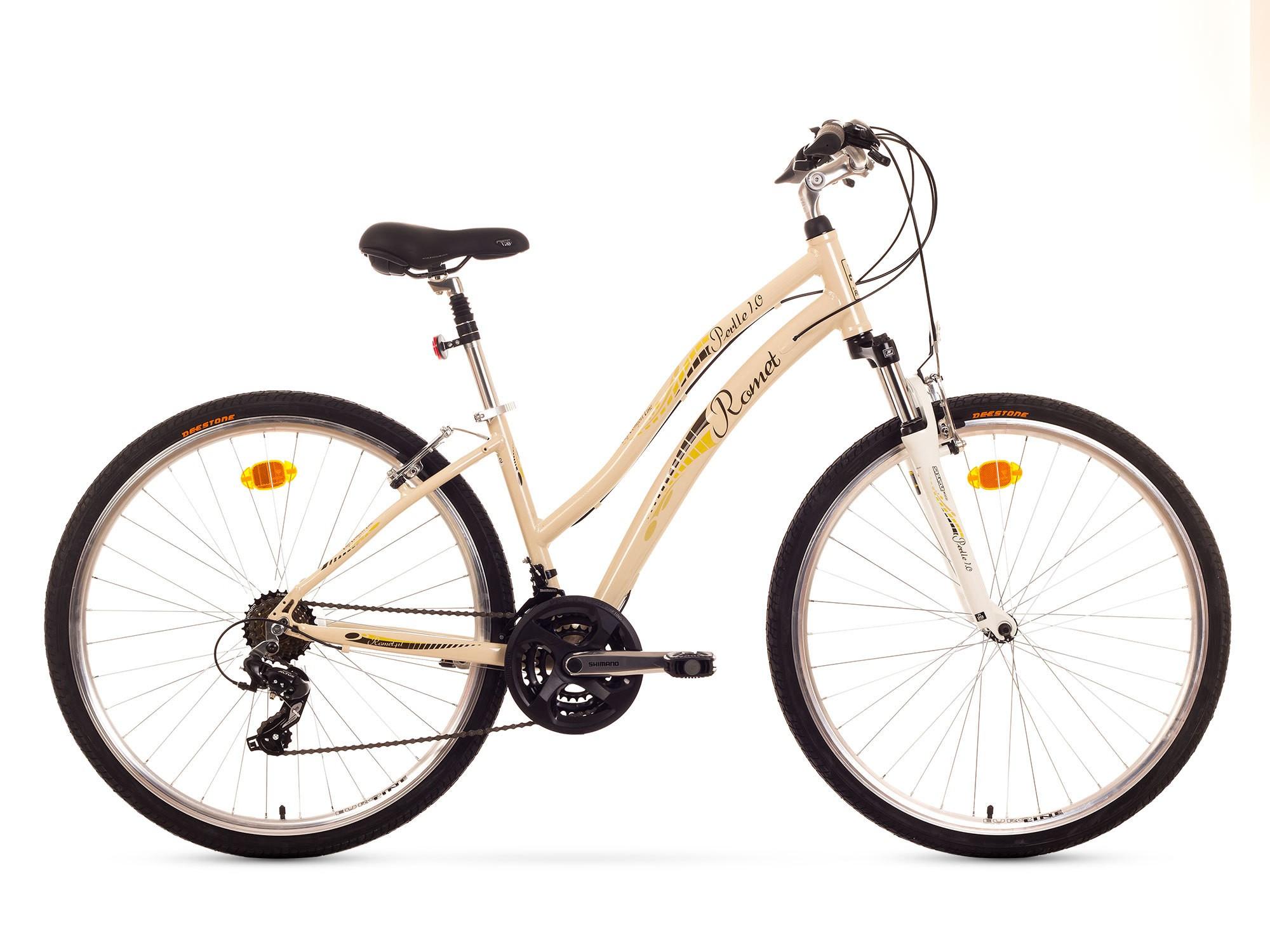 Bicicleta de oras Romet Perlle 1.0 - alb