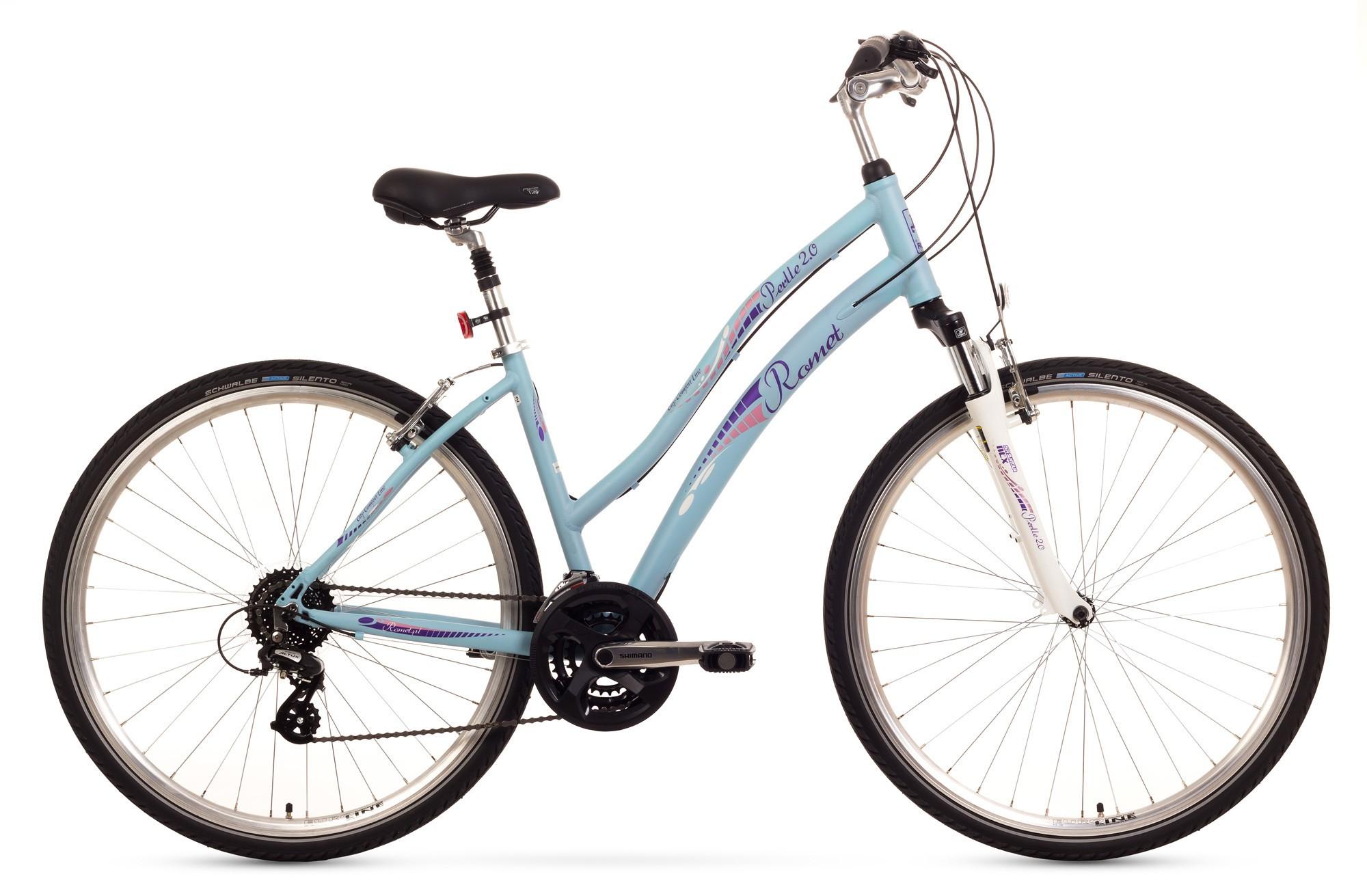 Bicicleta de oras Romet Perlle 2.0 - albastru