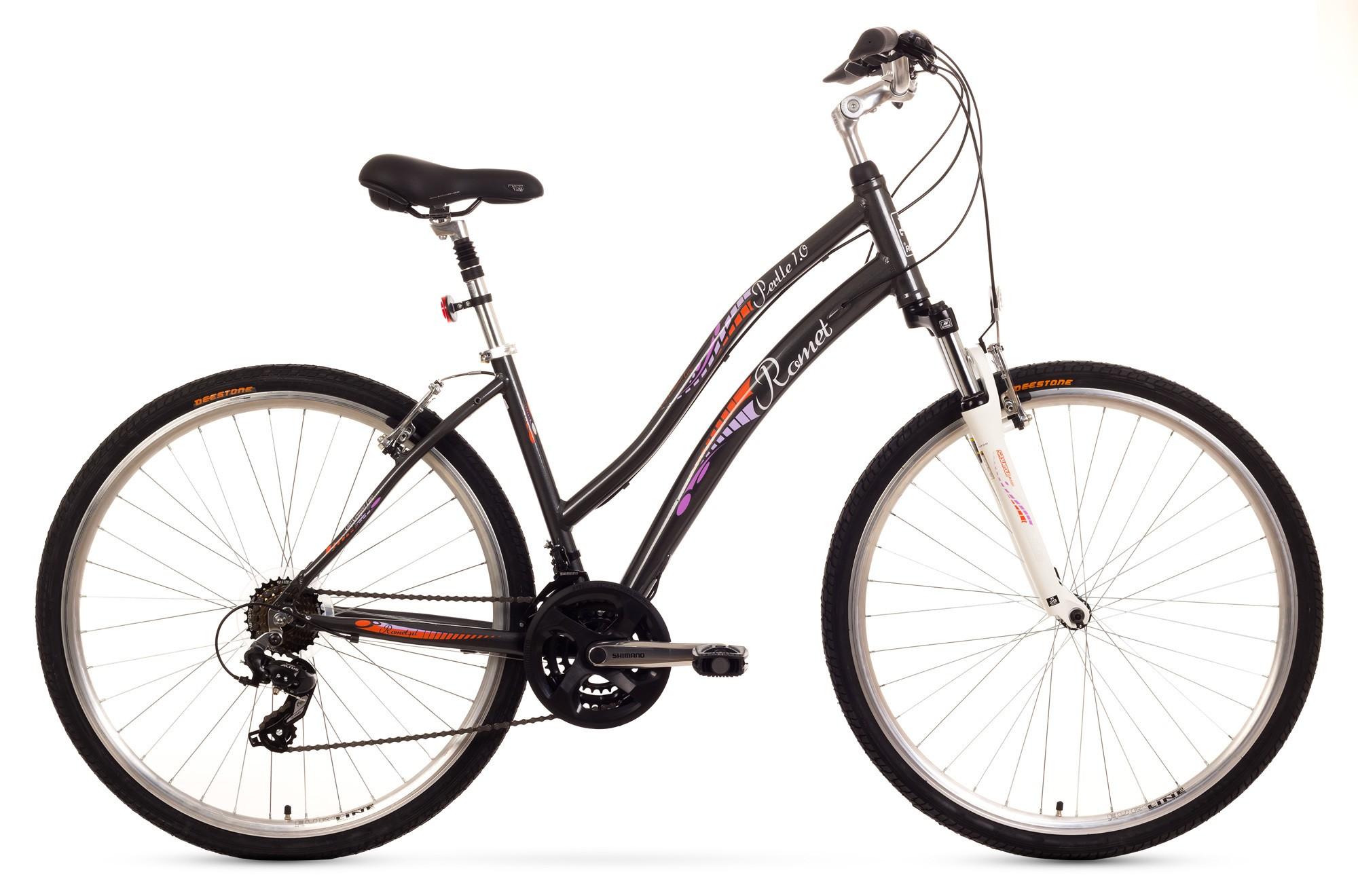 Bicicleta de oras Romet Perlle 1.0 - grafit
