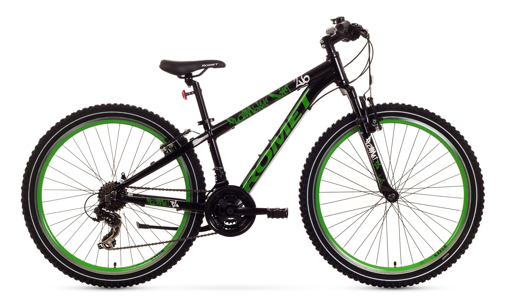 Bicicleta de copii Romet Rambler Dirt 26 - negru-verde