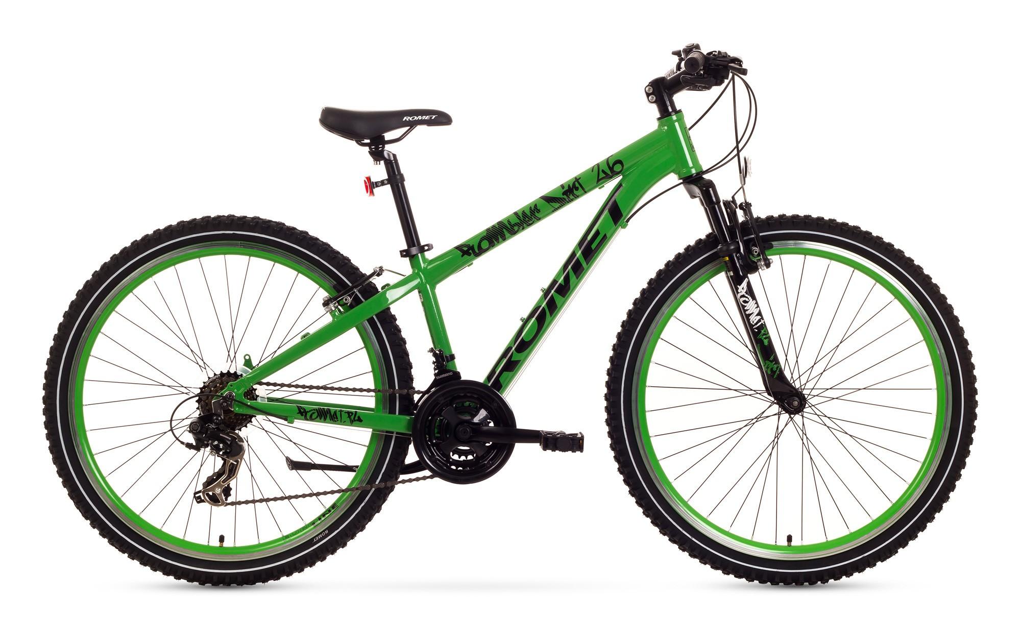 Bicicleta de copii Romet Rambler Dirt 26 - verde-negru