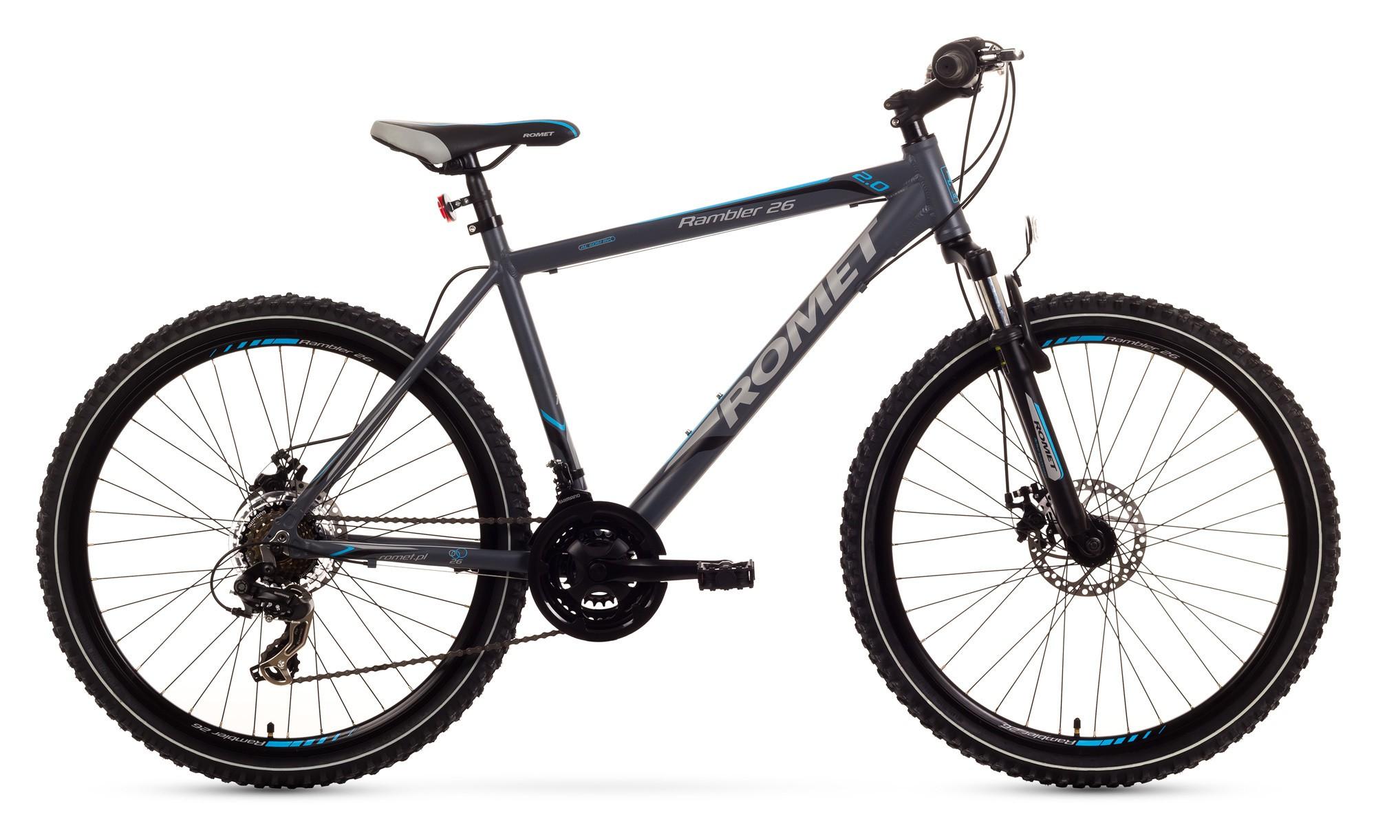 Bicicleta MTB Romet Rambler 26 2.0 - grafit-albastru