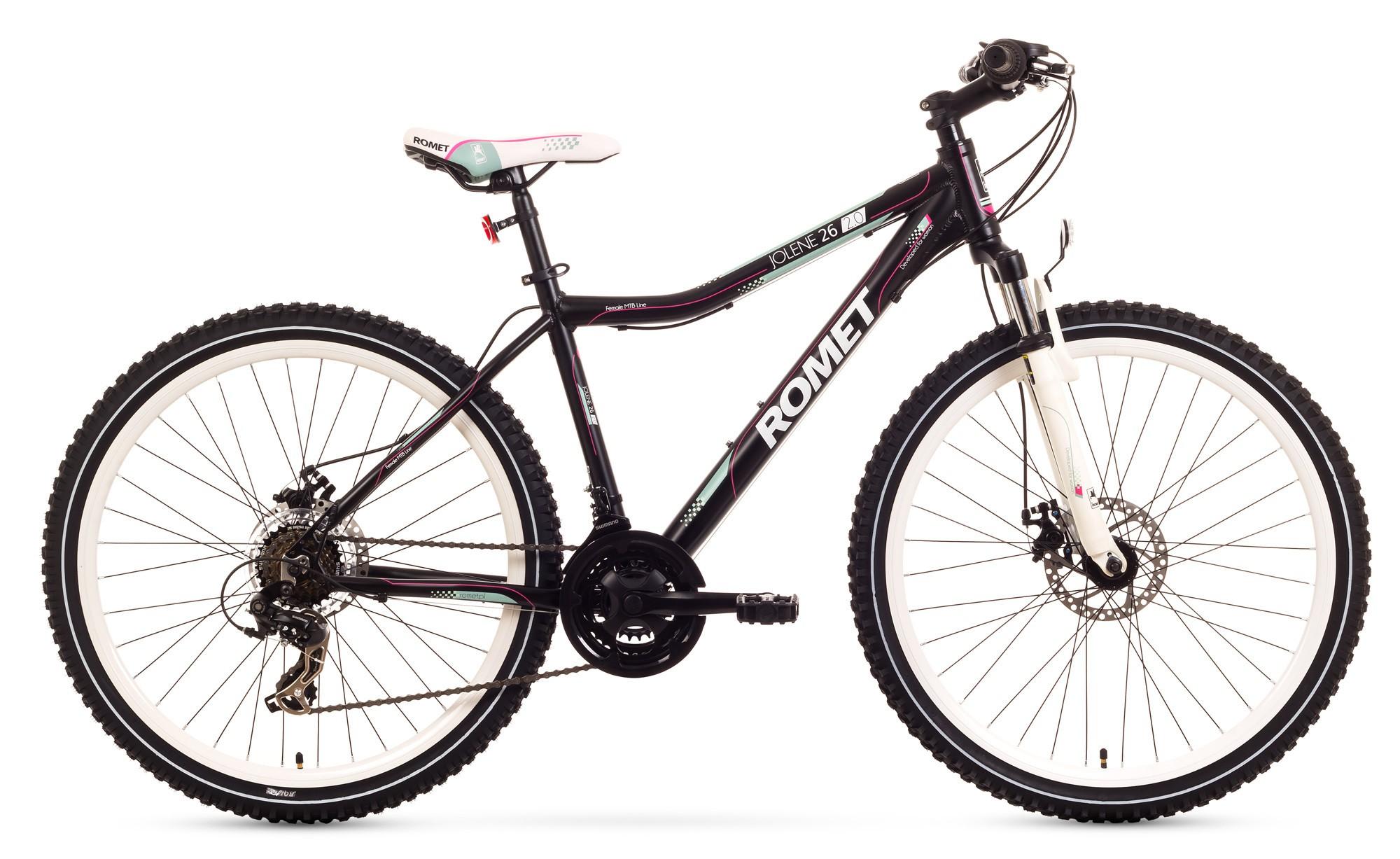 Bicicleta MTB Romet Jolene 26 2.0 - negru-roz