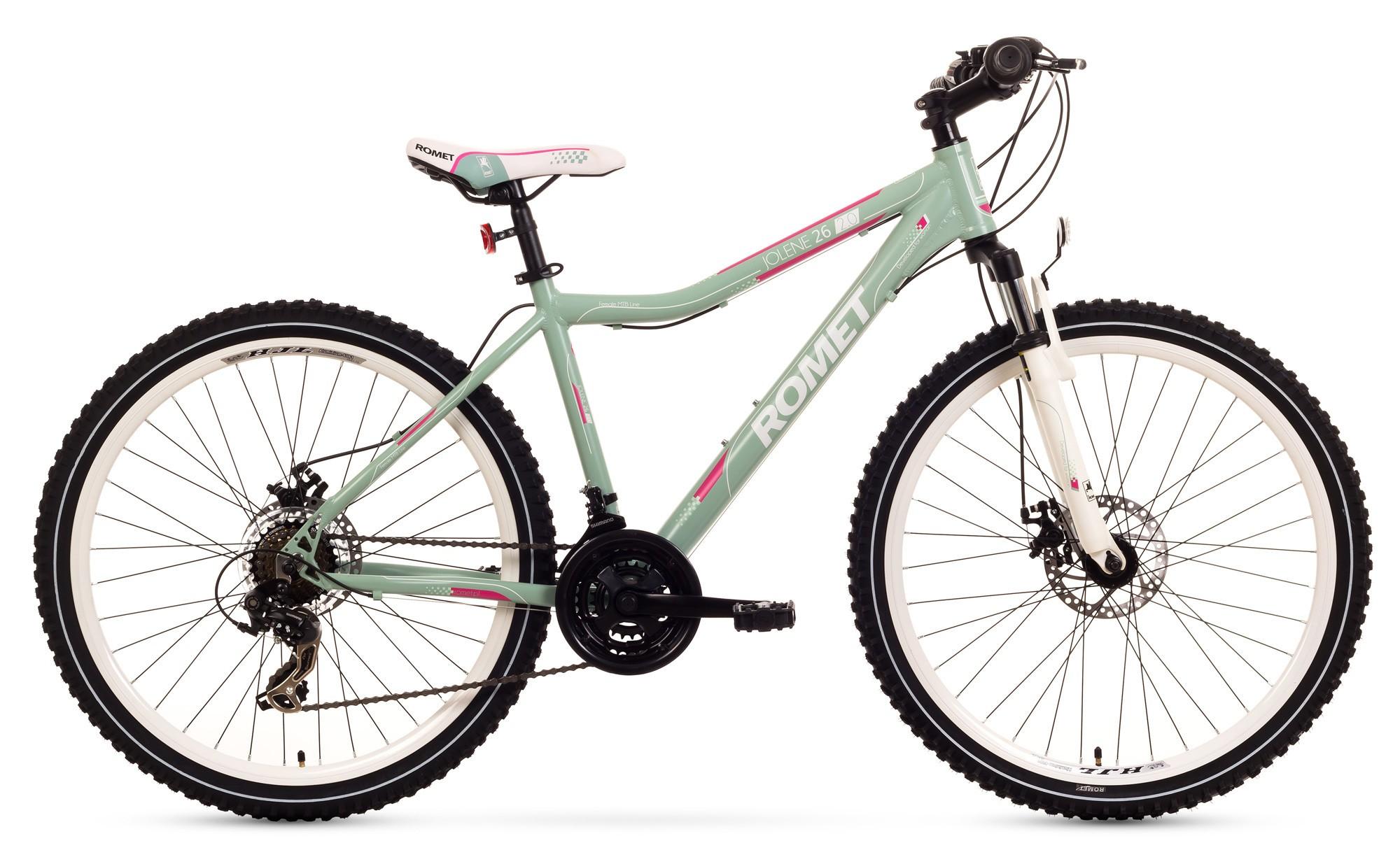Bicicleta MTB Romet Jolene 26 2.0 - verde-roz