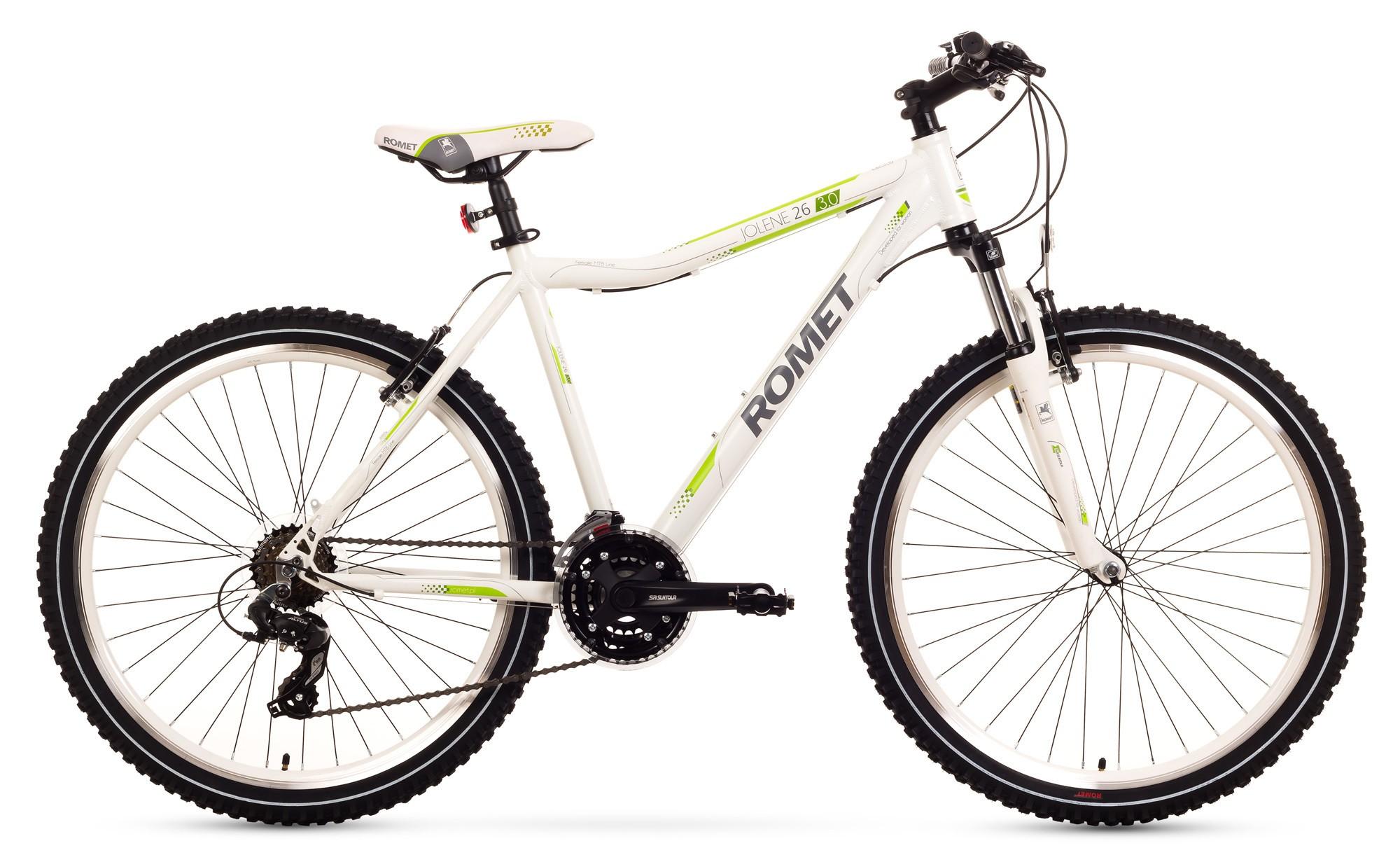 Bicicleta MTB Romet Jolene 26 3.0 - alb-verde