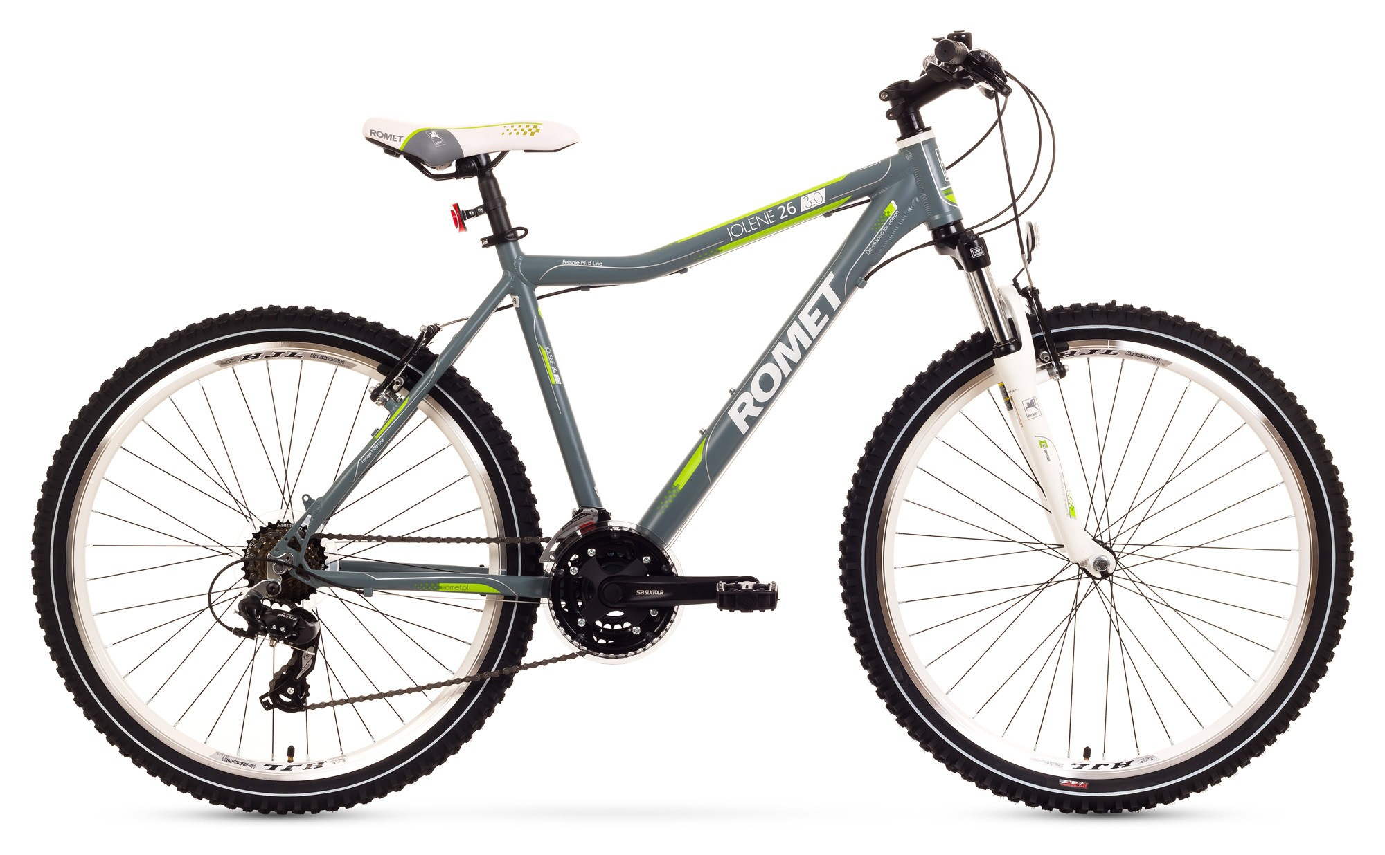 Bicicleta MTB Romet Jolene 26 3.0 - gri-verde