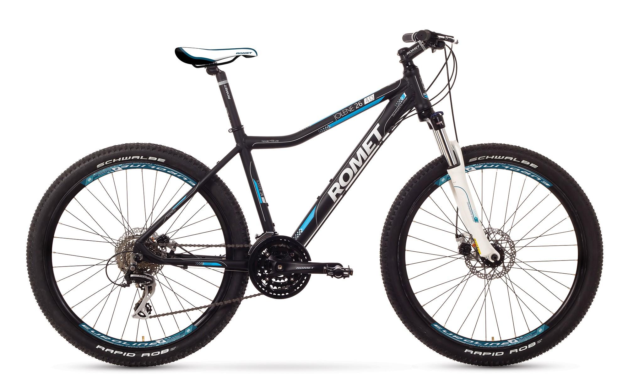 Bicicleta MTB Romet Jolene 26 4.0 - negru-albastru