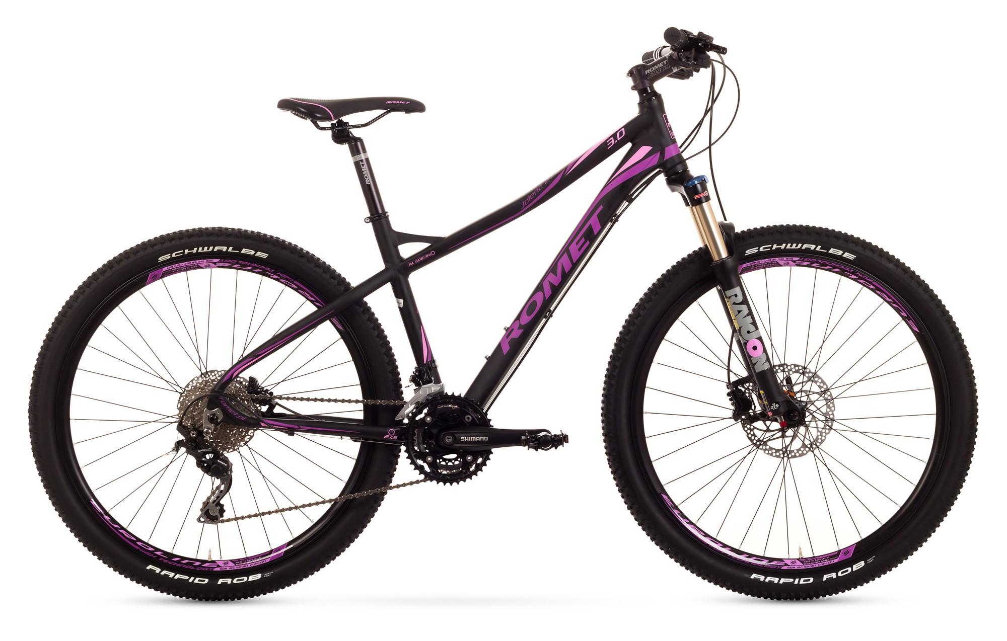 Bicicleta MTB Romet Jolene 27.5 3.0 - negru-roz