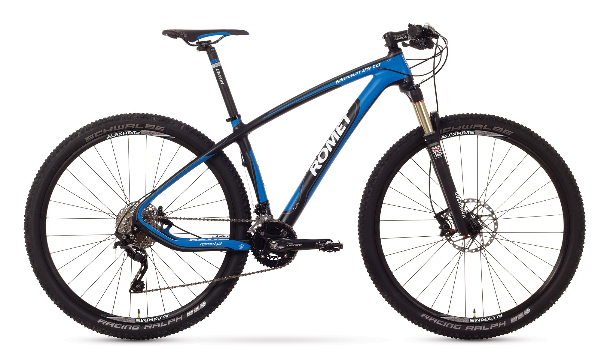 Bicicleta MTB Romet Monsun 29 1.0 - negru-albastru