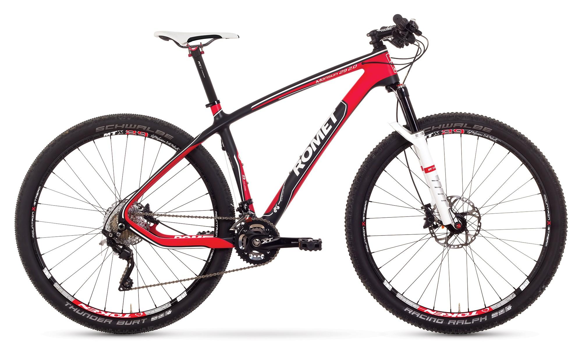 Bicicleta MTB Romet Monsun 29 2.0 - negru-rosu