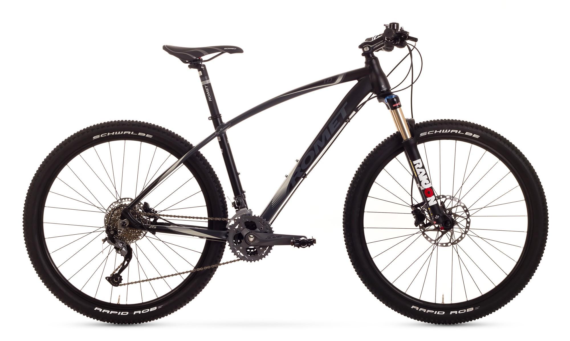 Bicicleta MTB Romet Mustang 27.5 1.0 - negru-gri