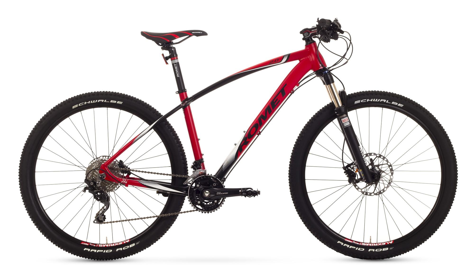 Bicicleta MTB Romet Mustang 27.5 2.0 - rosu-negru