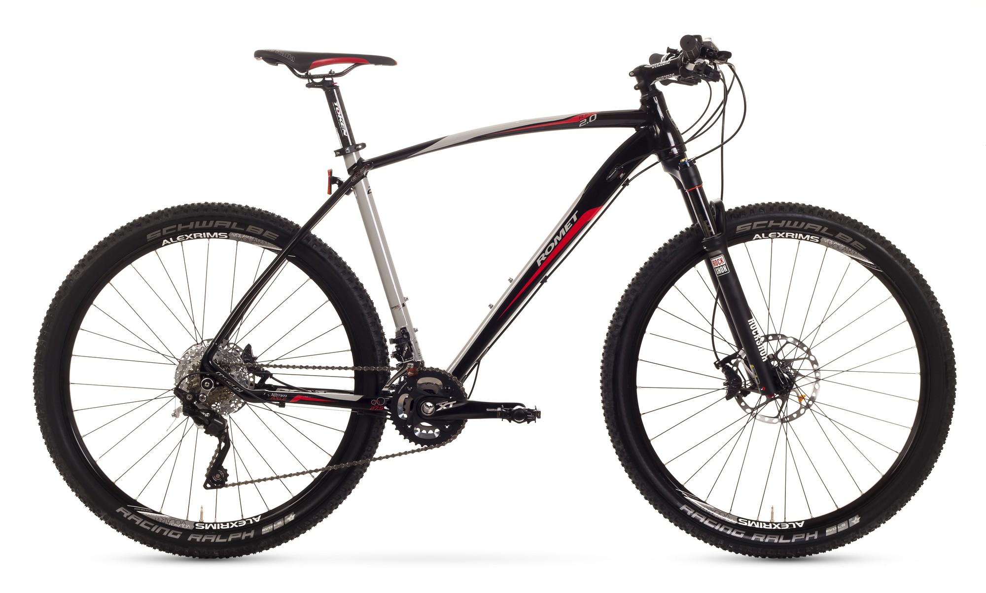 Bicicleta MTB Romet Mustang R-line 27.5 2.0 - crom-negru-rosu