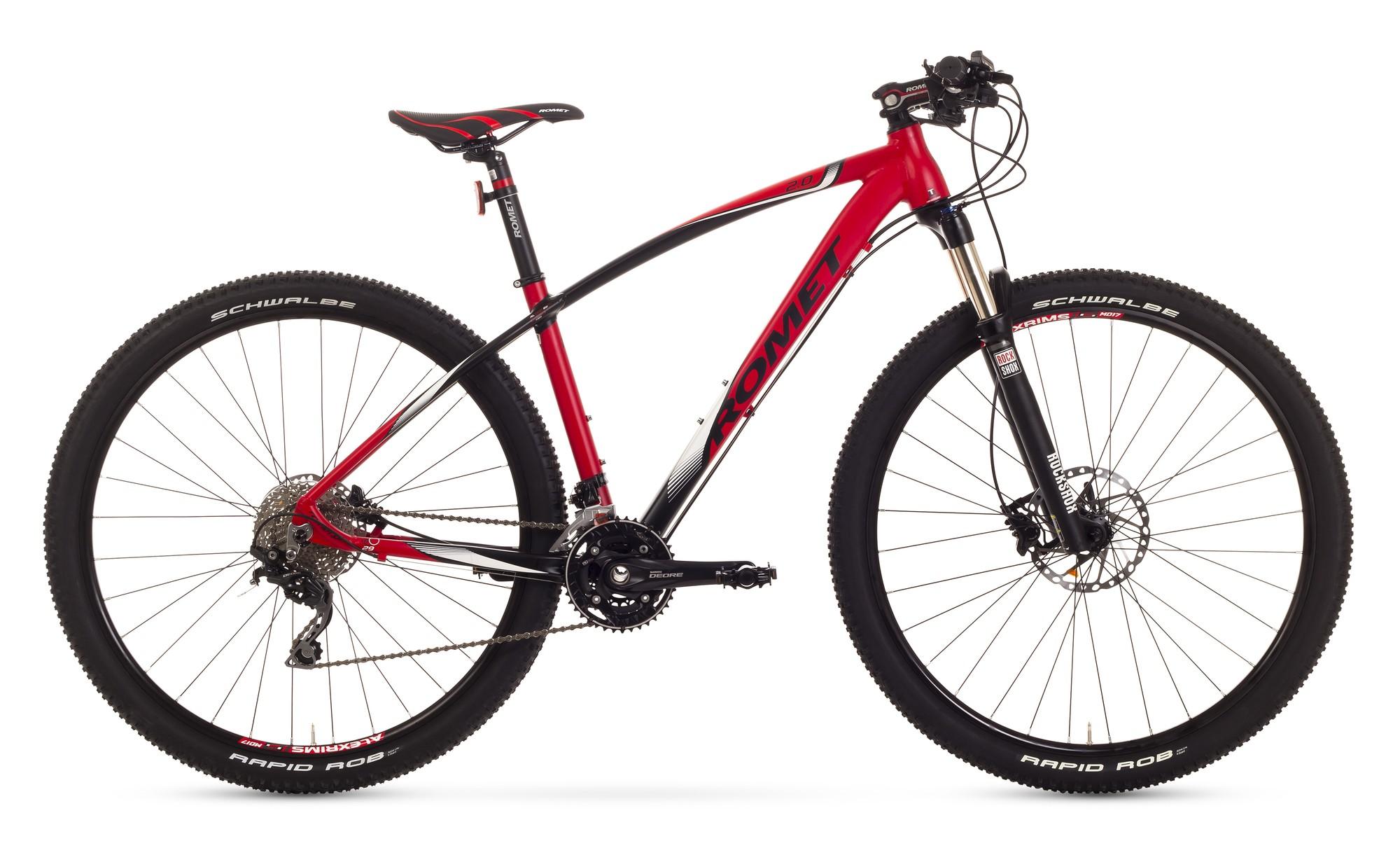 Bicicleta MTB Romet Mustang 29 2.0 - rosu-negru