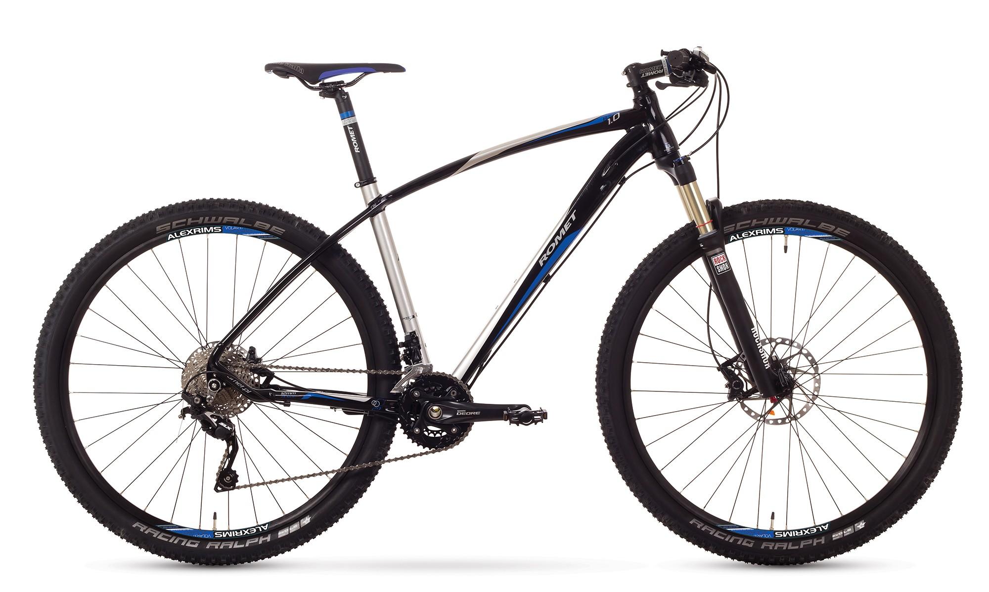 Bicicleta MTB Romet Mustang R-line 29 1.0 - crom-negru-albastru