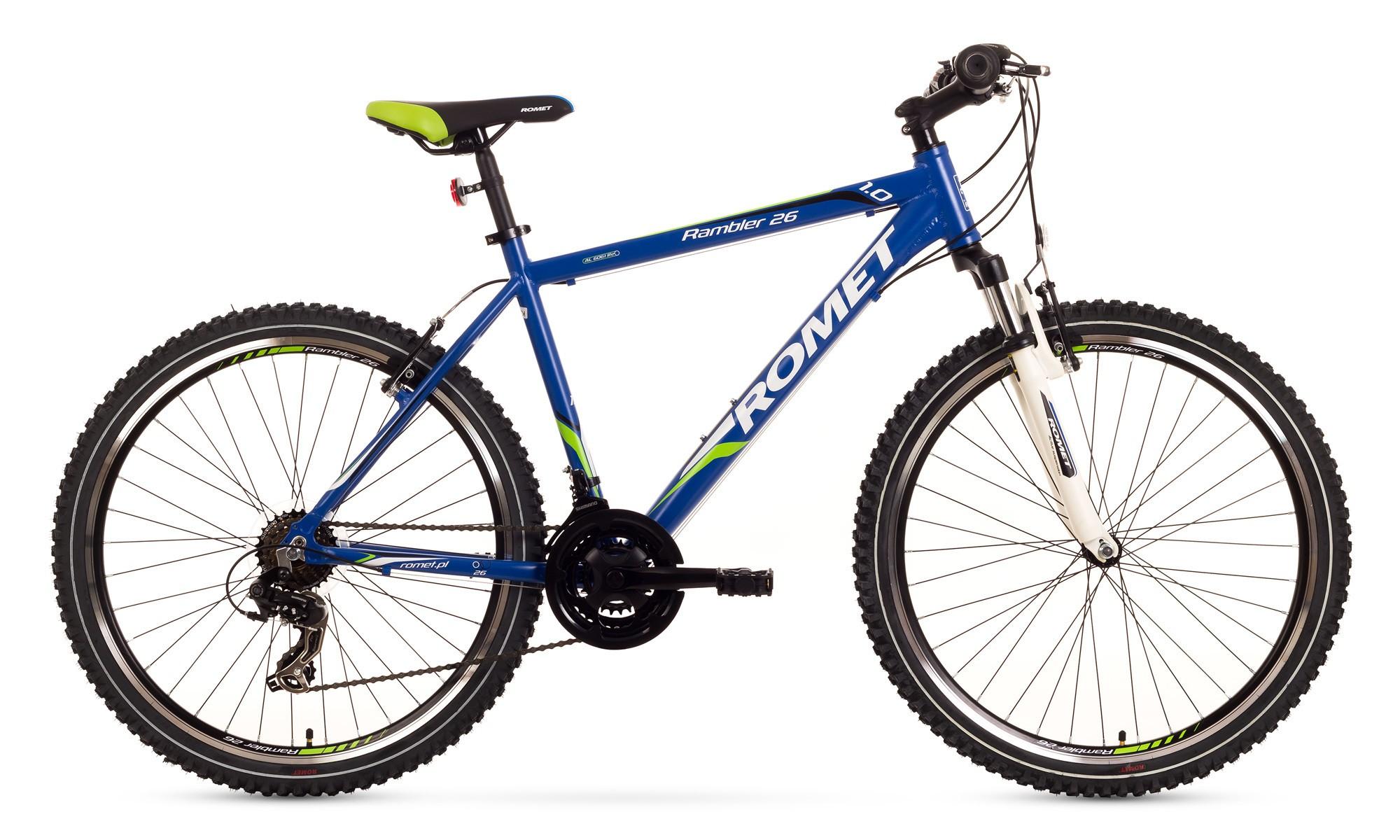 Bicicleta MTB Romet Rambler 26 1.0 - albastru-verde