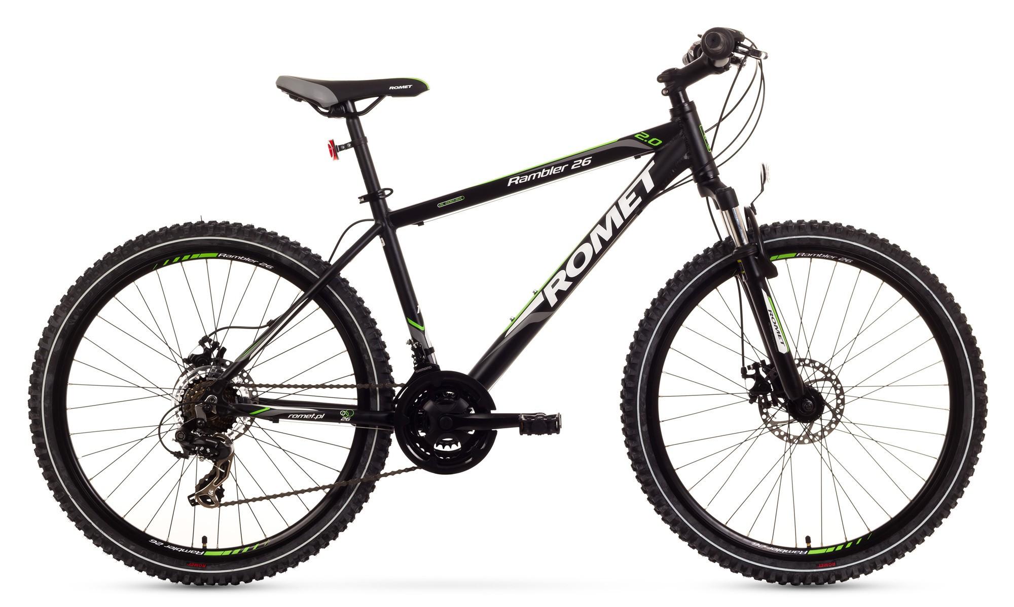 Bicicleta MTB Romet Rambler 26 2.0 - negru-verde
