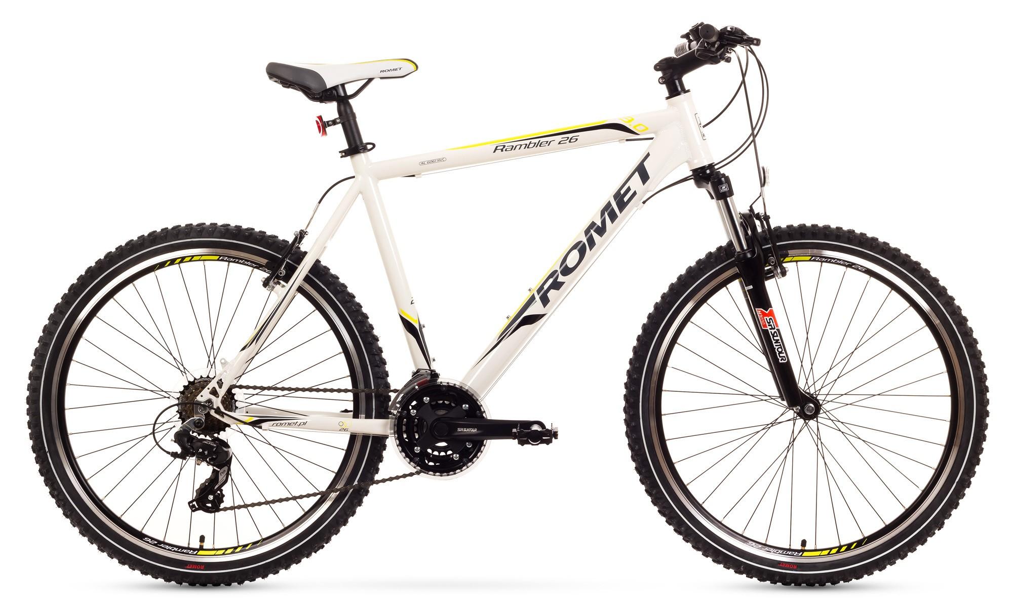 Bicicleta MTB Romet Rambler 26 3.0 - alb-verde