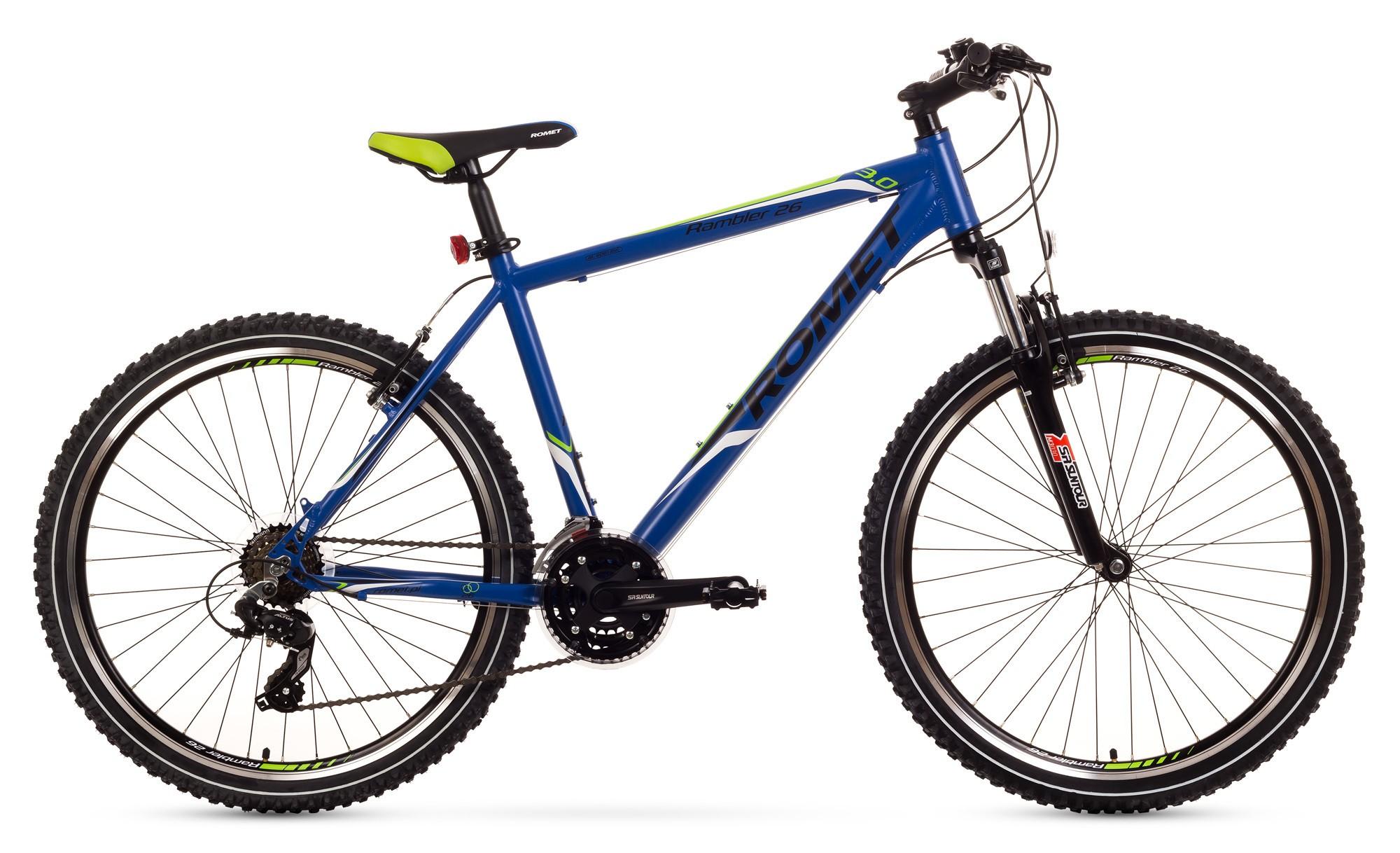 Bicicleta MTB Romet Rambler 26 3.0 - albastru-verde