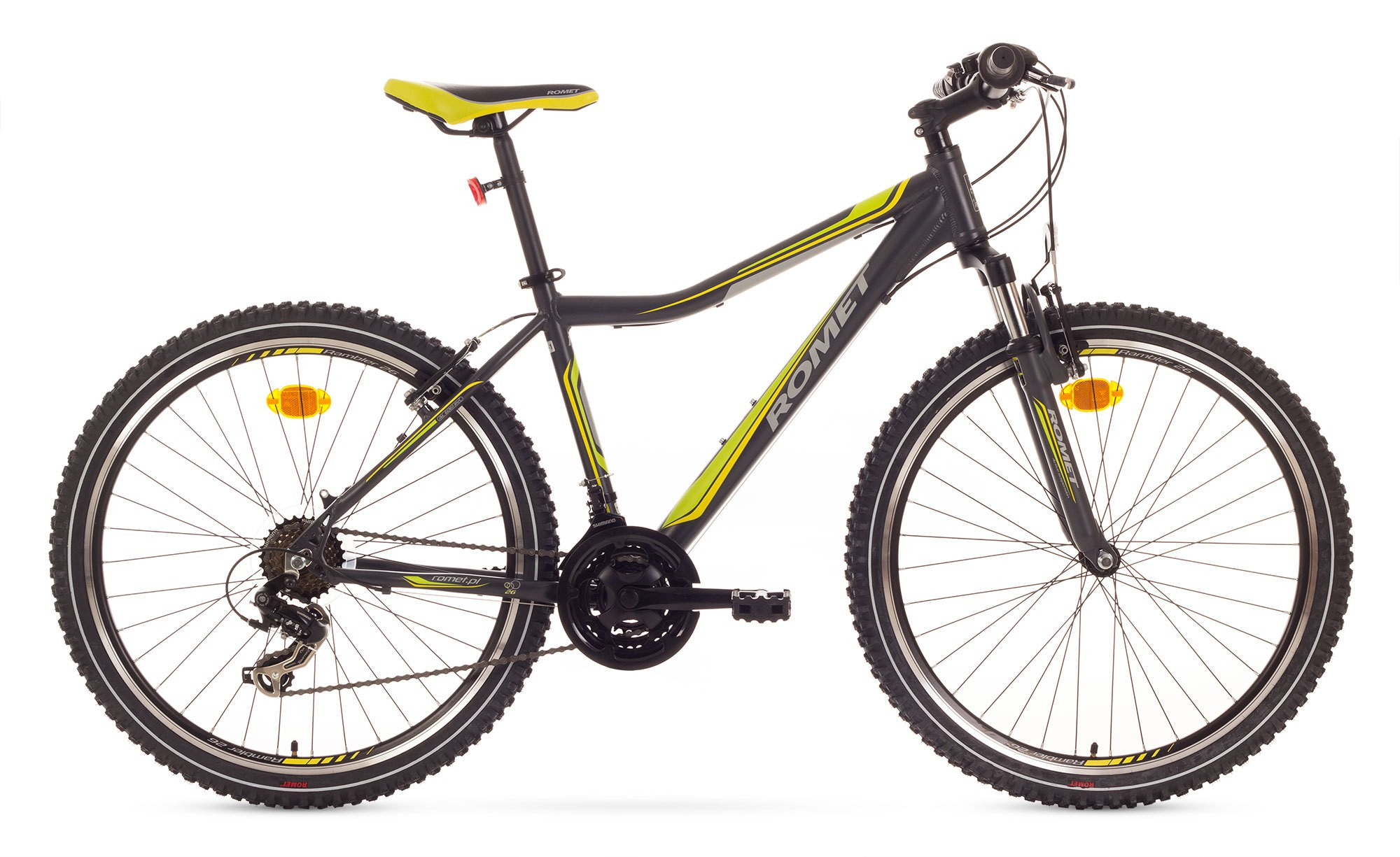 Bicicleta MTB Romet Rambler 26 JR - negru-verde