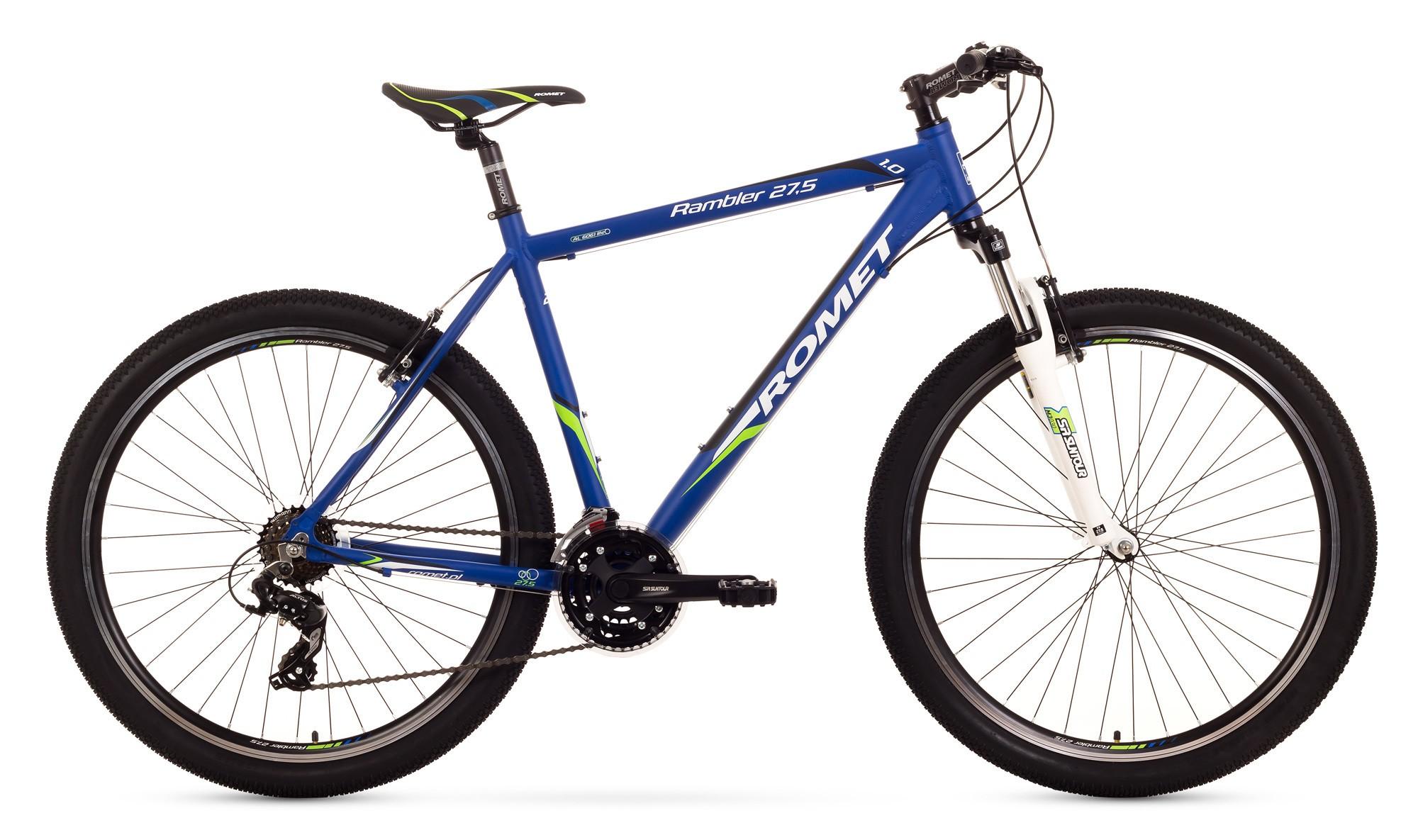 Bicicleta MTB Romet Rambler 27.5 1.0 - albastru-verde
