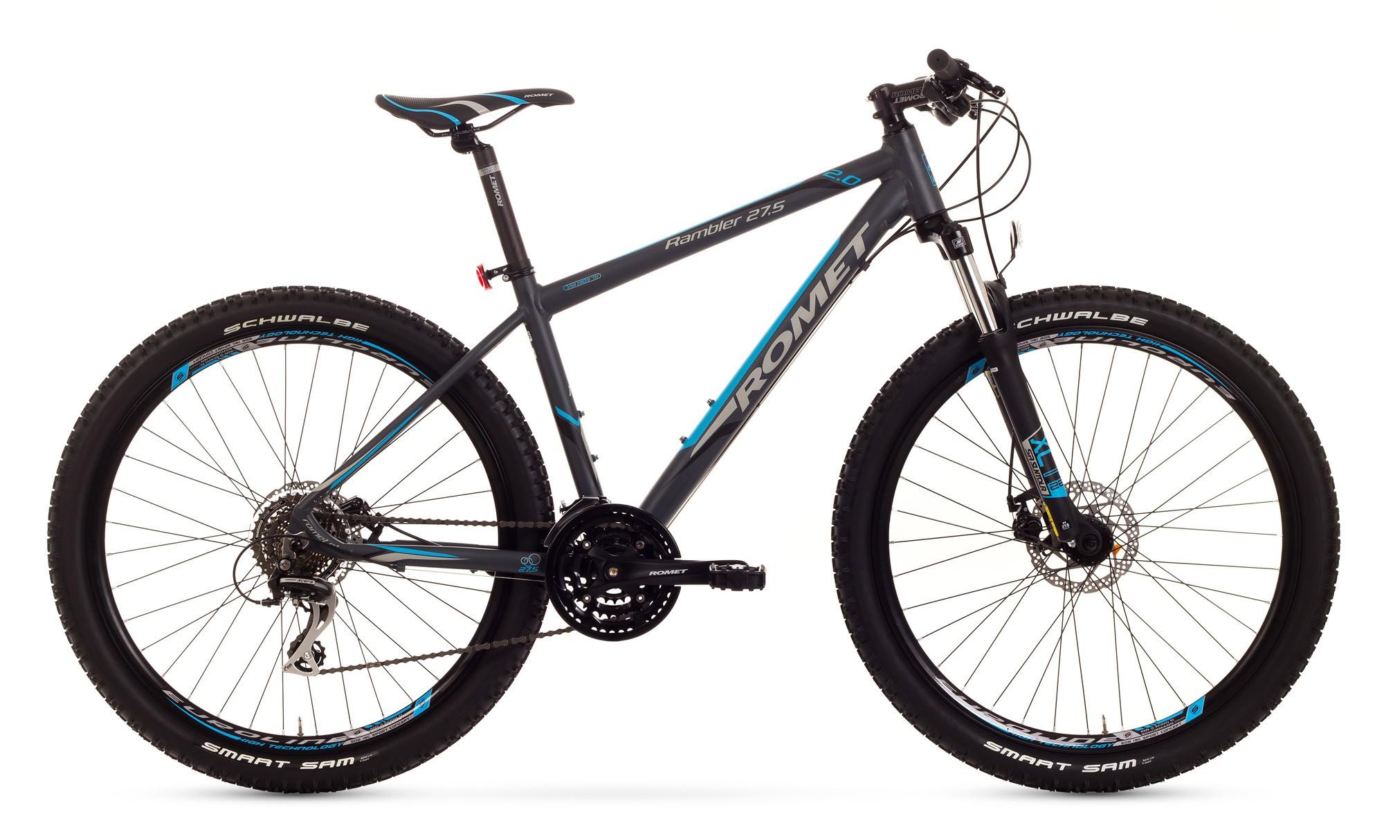 Bicicleta MTB Romet Rambler 27.5 2.0 - grafit-albastru