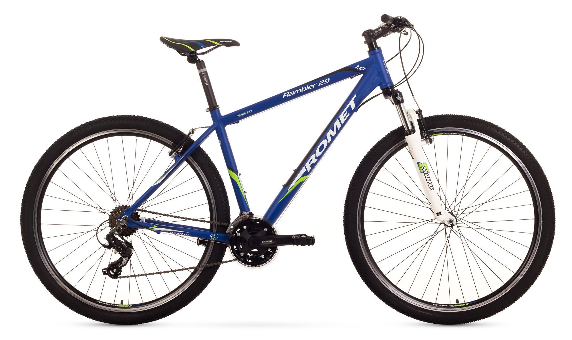 Bicicleta MTB Romet Rambler 29 1.0 - albastru-verde