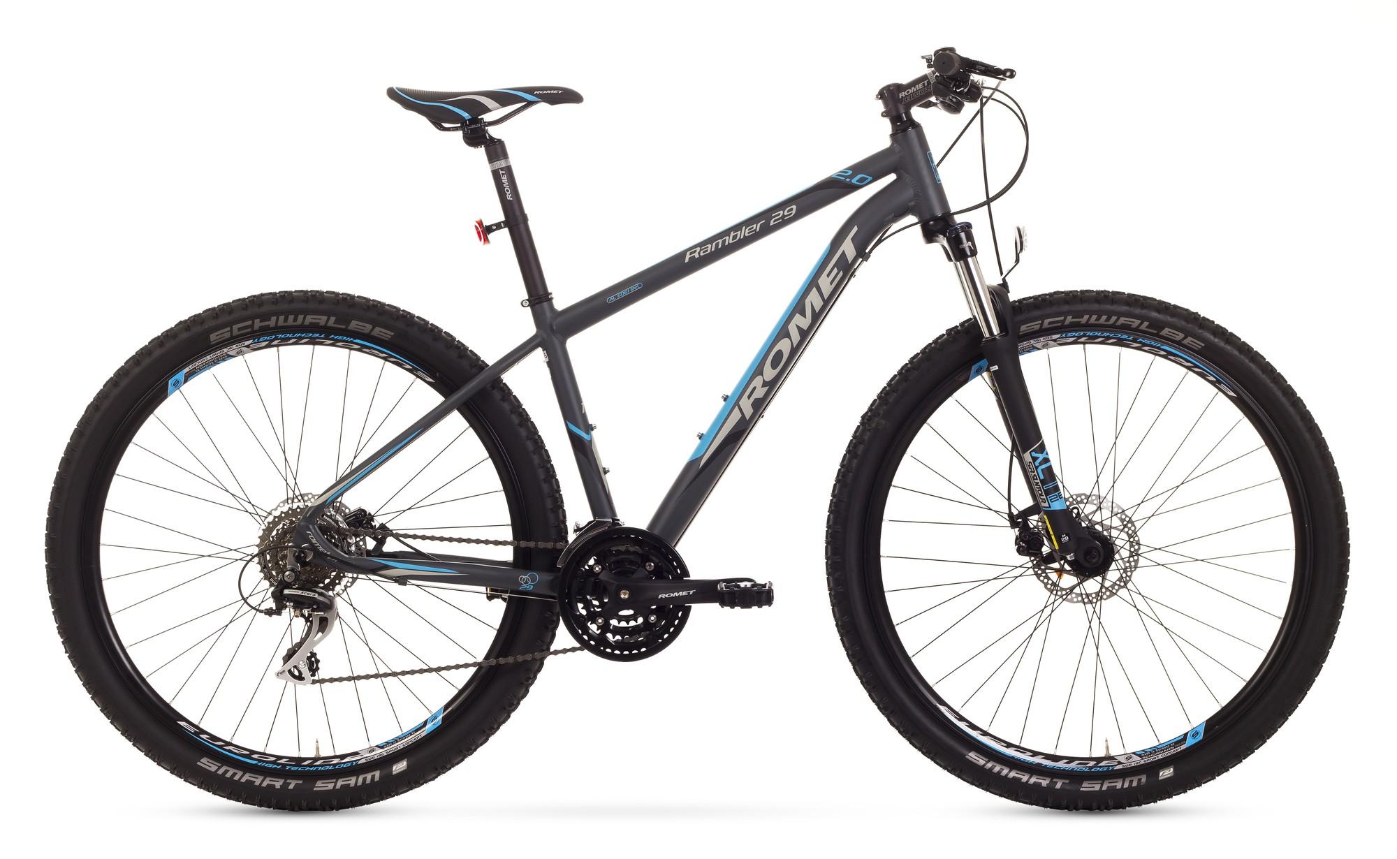 Bicicleta MTB Romet Rambler 29 2.0 - grafit-albastru