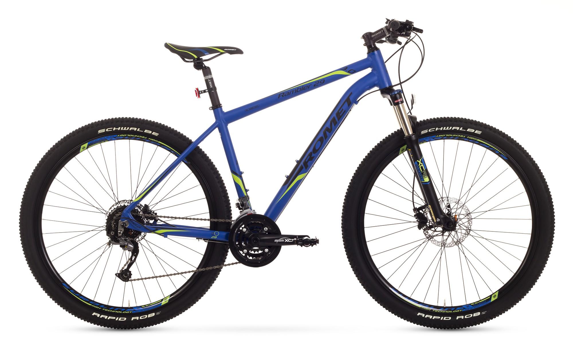 Bicicleta MTB Romet Rambler 29 3.0 - albastru-galben