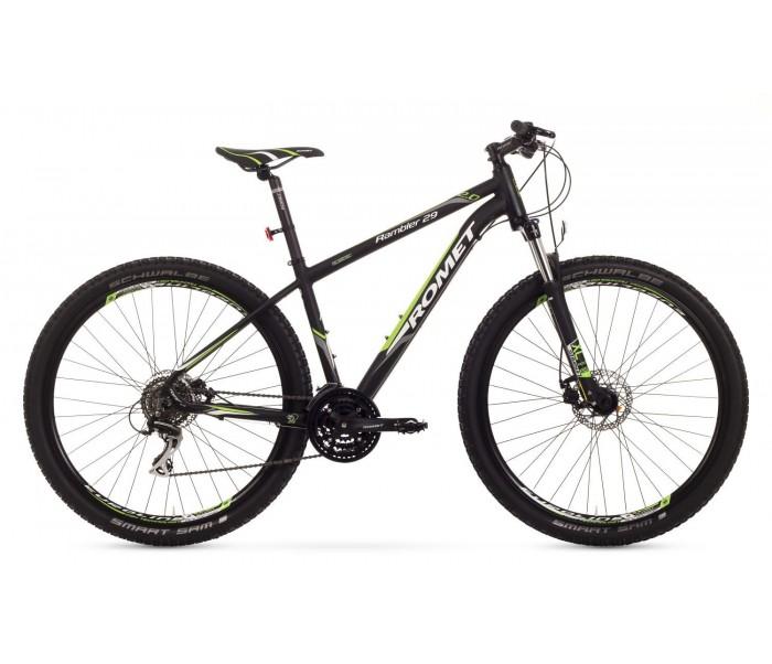 Bicicleta MTB Romet Rambler 29 2.0 - negru-verde