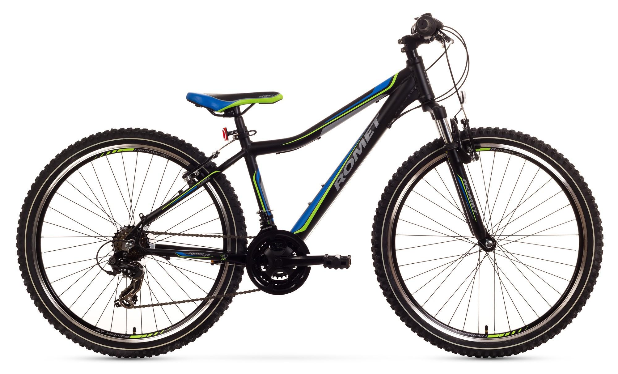 Bicicleta MTB Romet Rambler 26 JR - negru-albastru