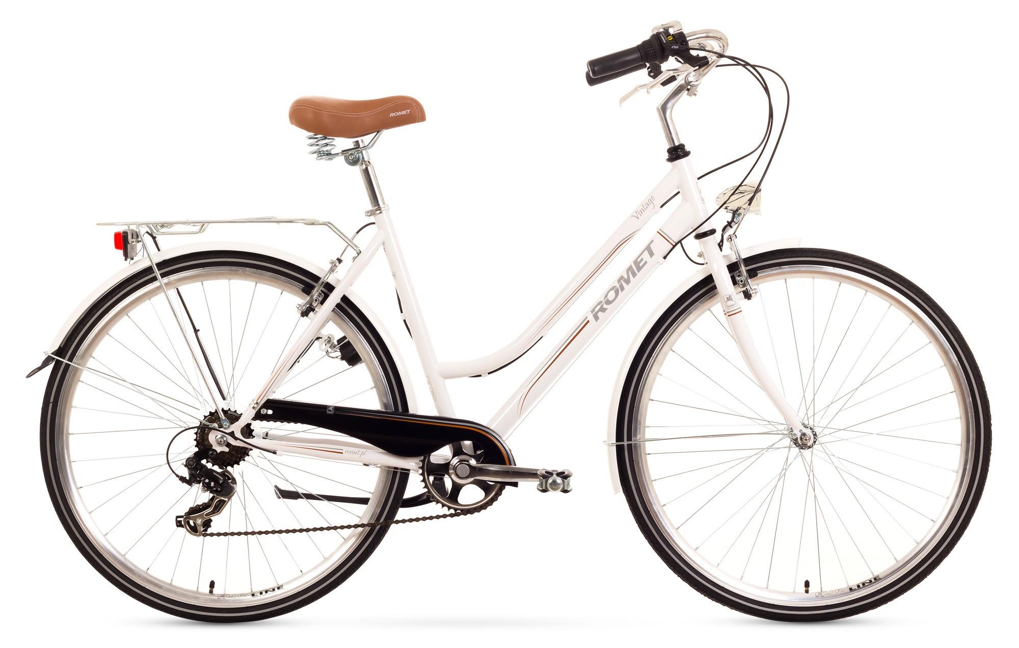 Bicicleta de oras Romet Vintage D - alb