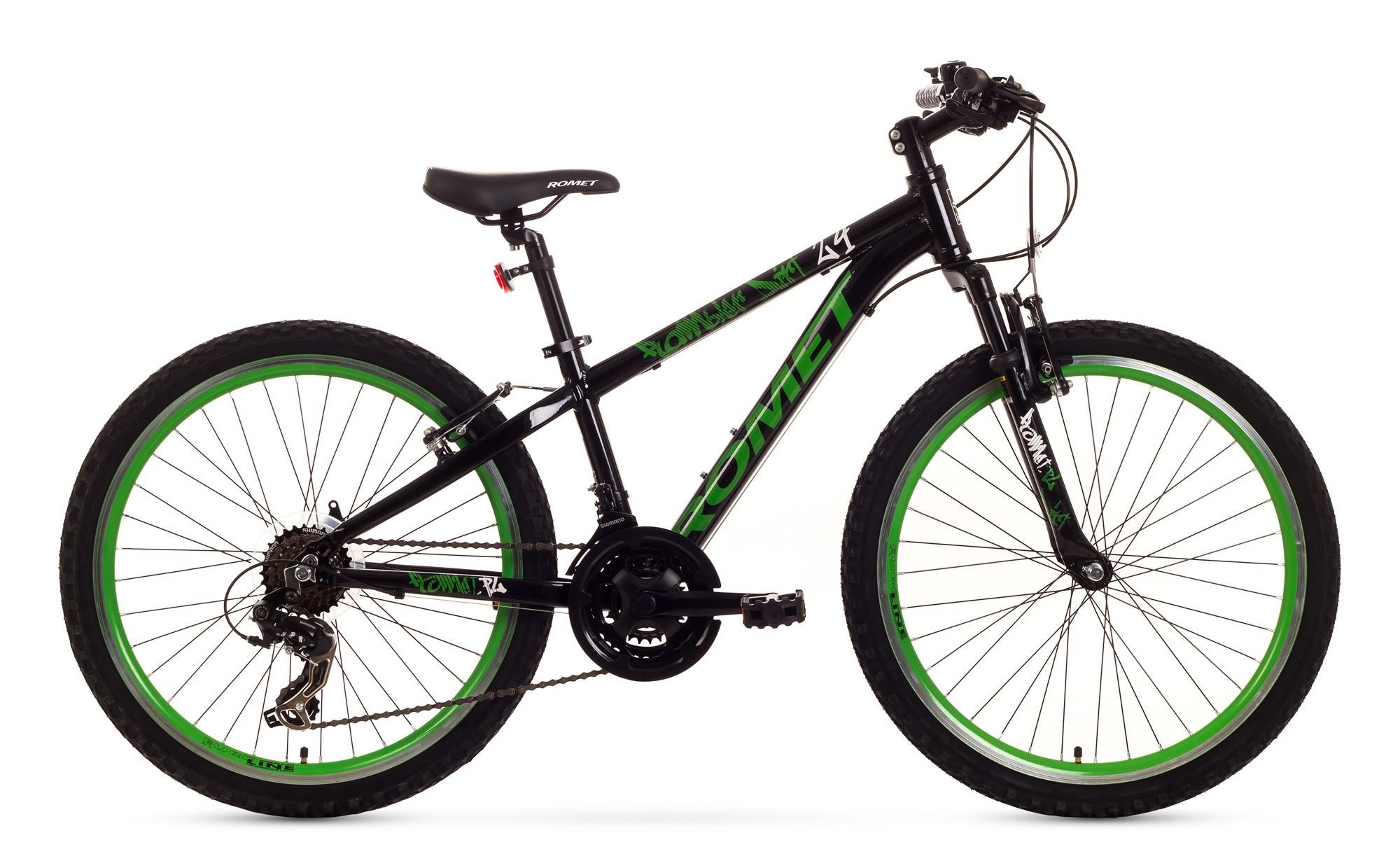 Bicicleta de copii Romet Rambler Dirt 24 - negru-verde