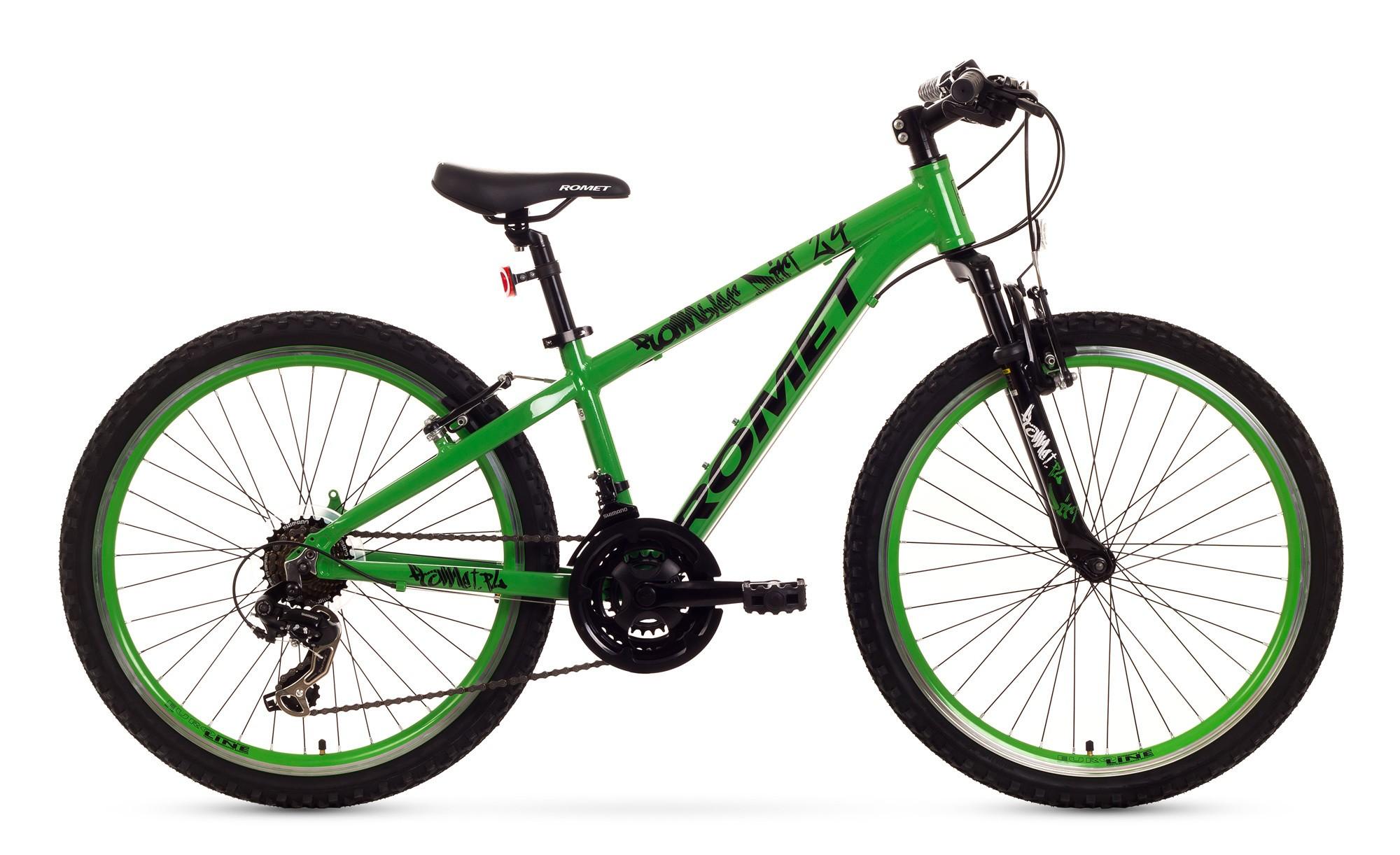 Bicicleta de copii Romet Rambler Dirt 24 - verde-negru