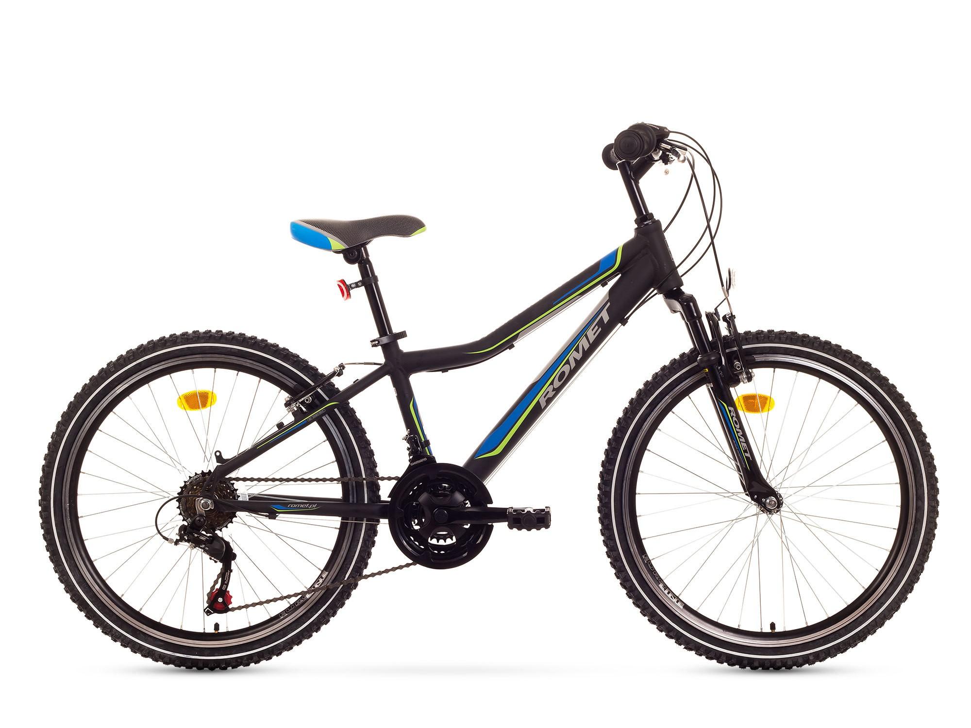 Bicicleta de copii Romet Rambler 24 - negru-albastru