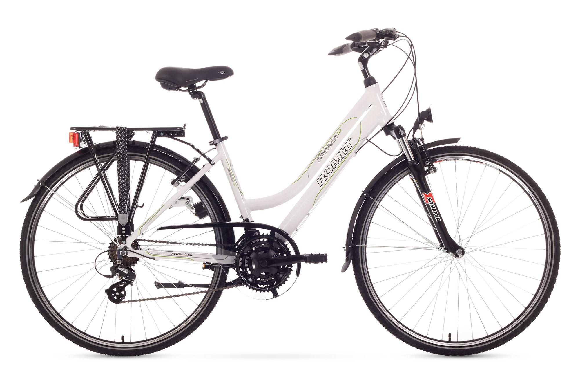 Bicicleta Trekking Romet Gazela 1.0 - alb