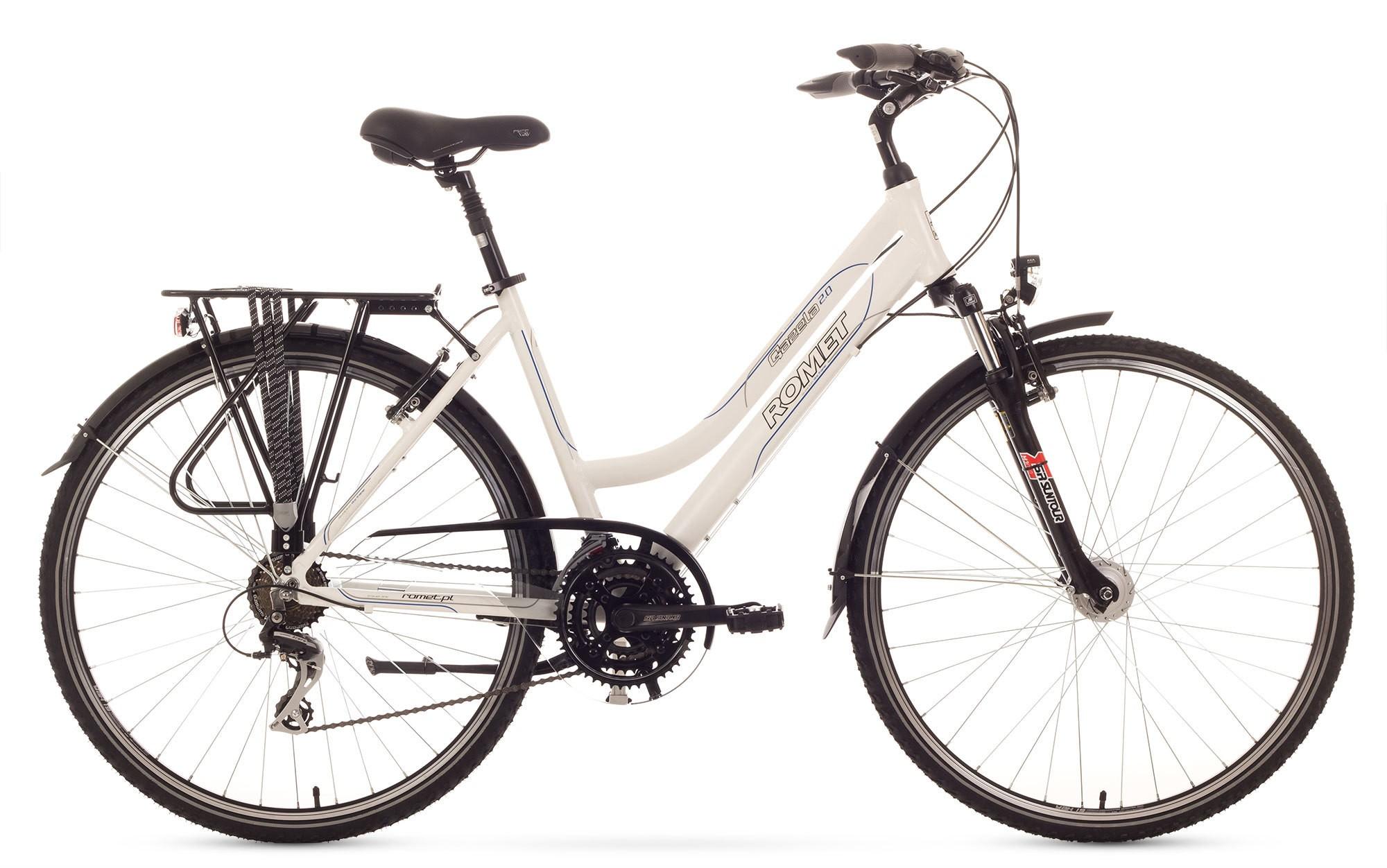 Bicicleta Trekking Romet Gazela 2.0 - alb