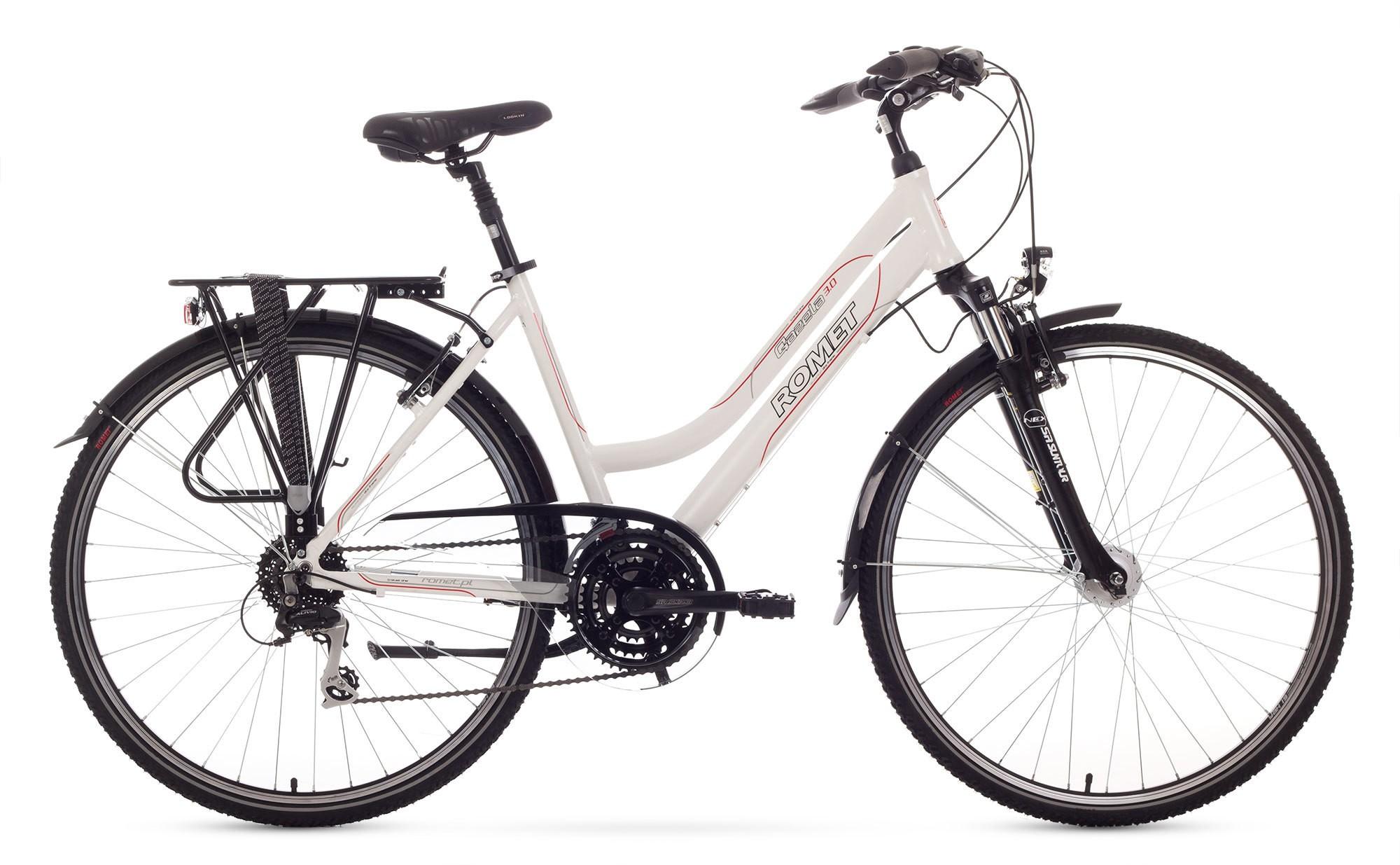 Bicicleta Trekking Romet Gazela 3.0 - alb