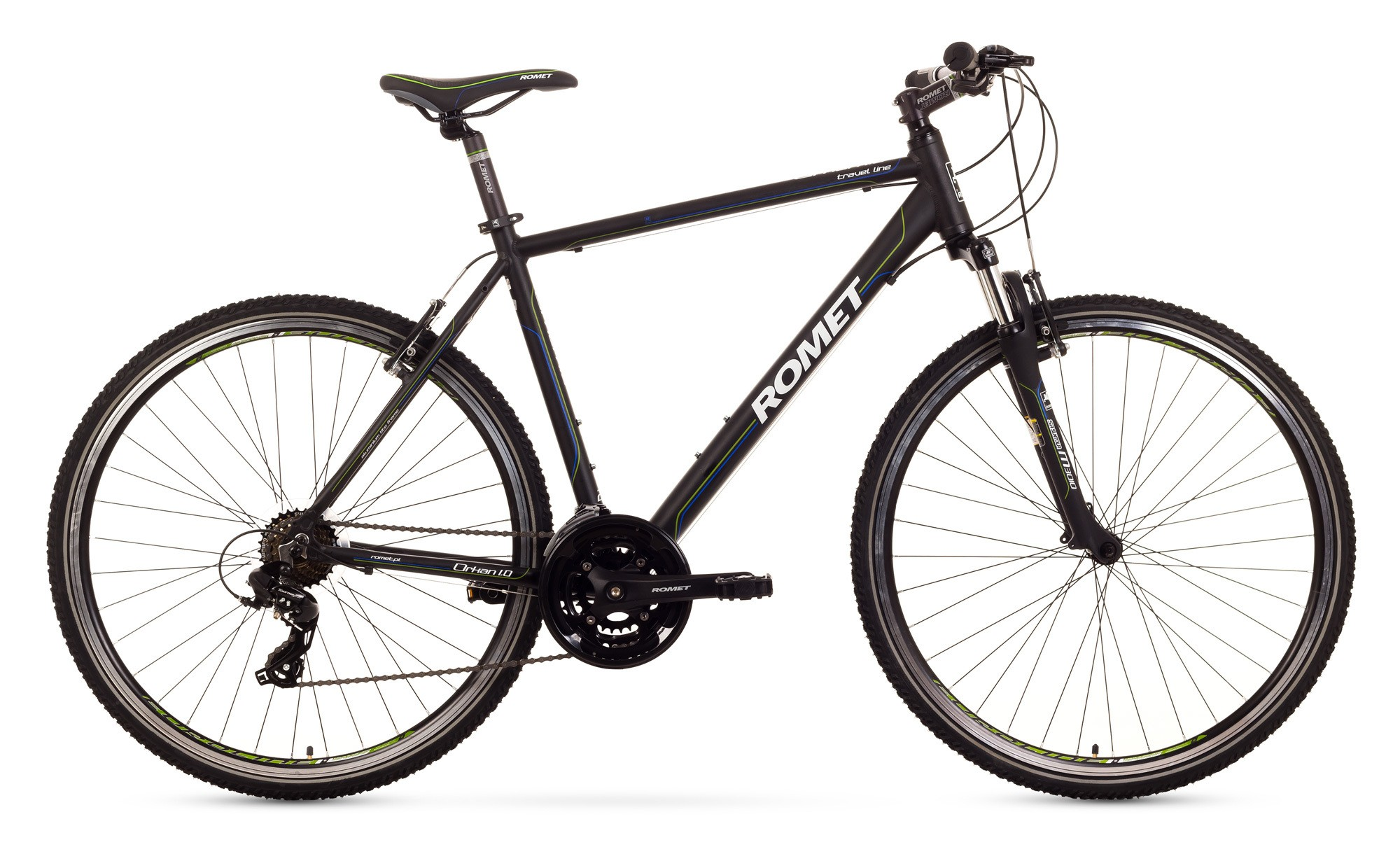 Bicicleta Trekking Romet Orkan 1.0 M - negru