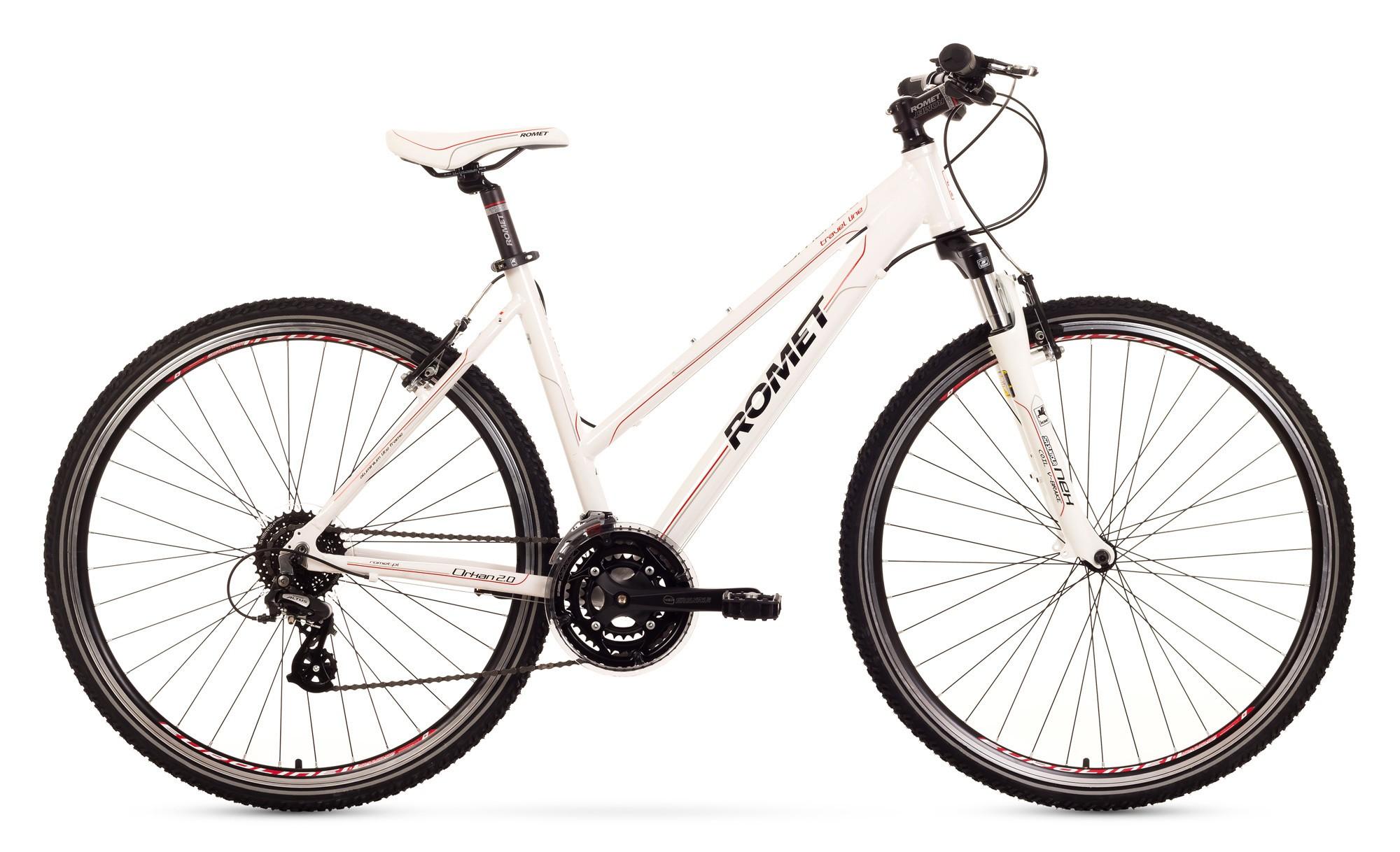 Bicicleta Trekking Romet Orkan 2.0 D - alb