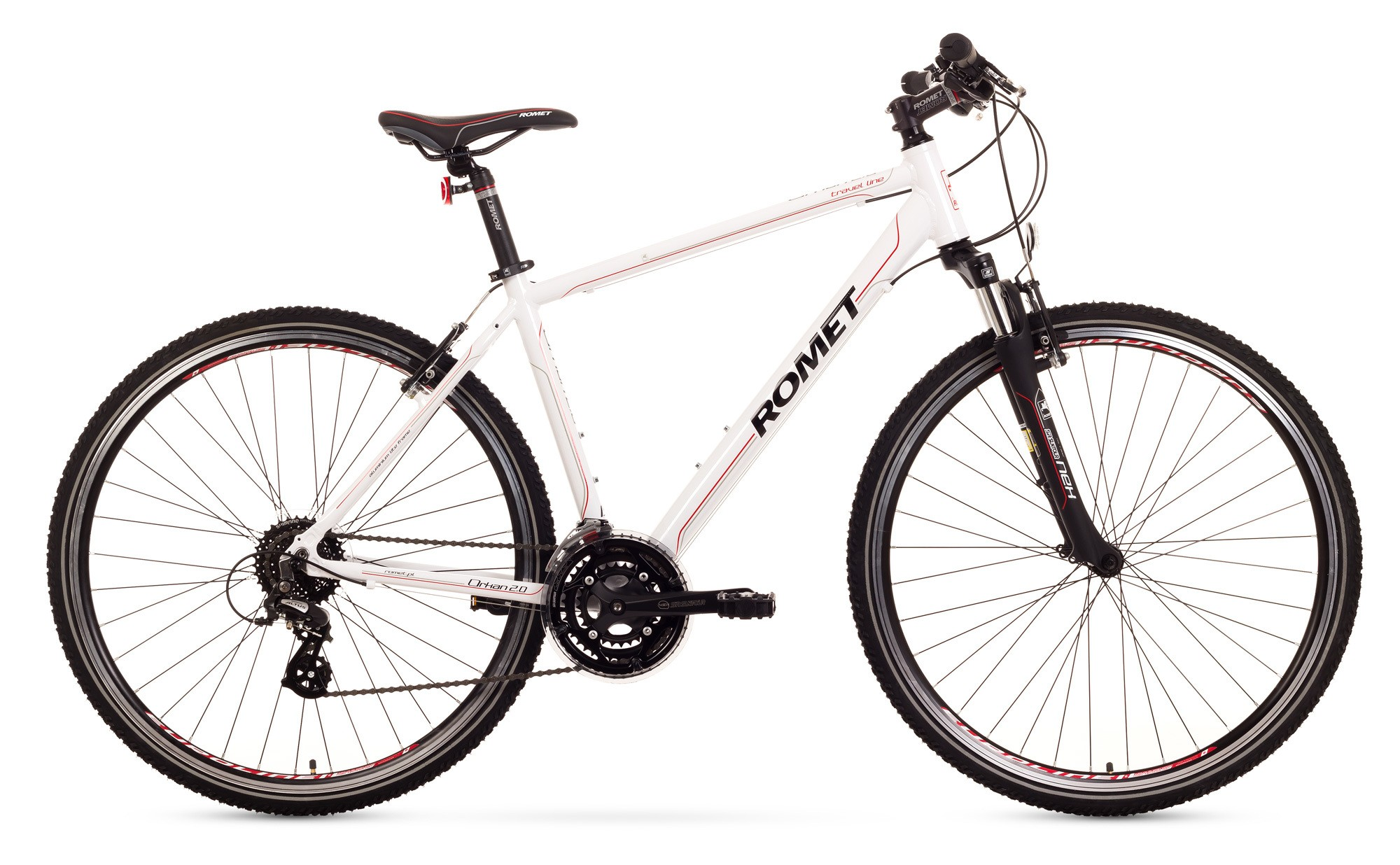 Bicicleta Trekking Romet Orkan 2.0 M - alb