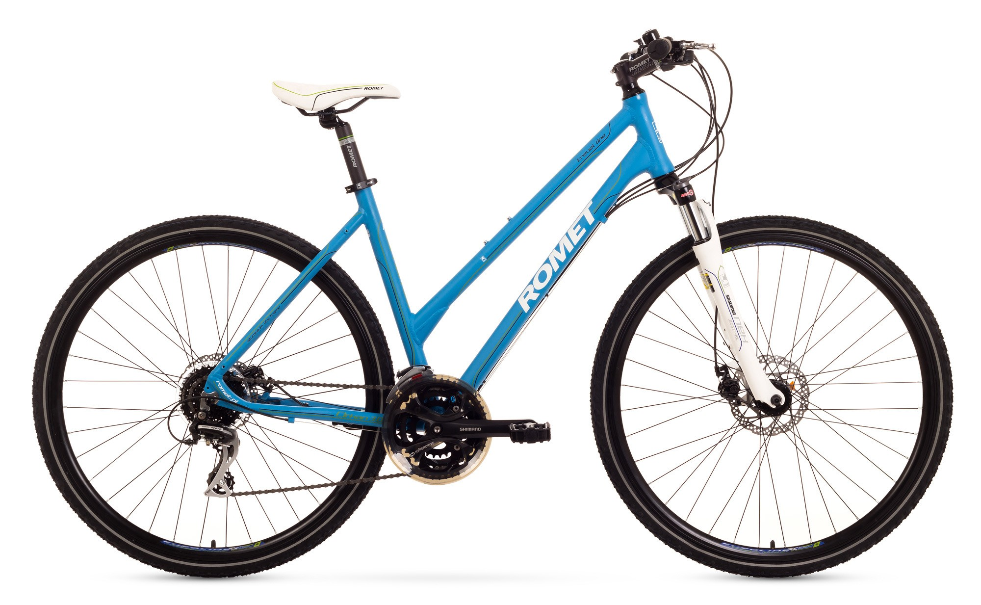 Bicicleta Trekking Romet Orkan 3.0 D - albastru