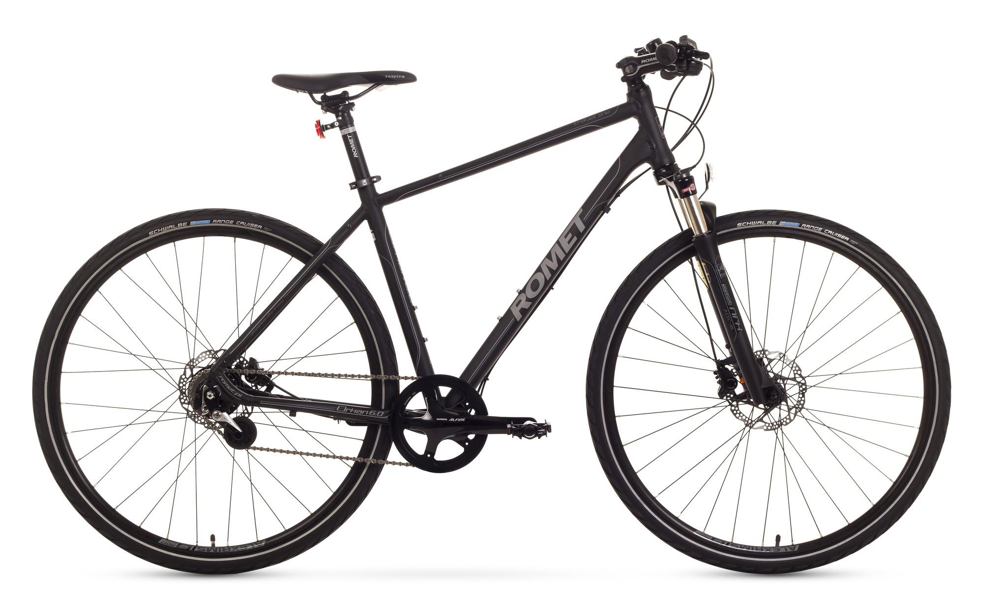 Bicicleta trekking Romet Orkan 6.0 - negru