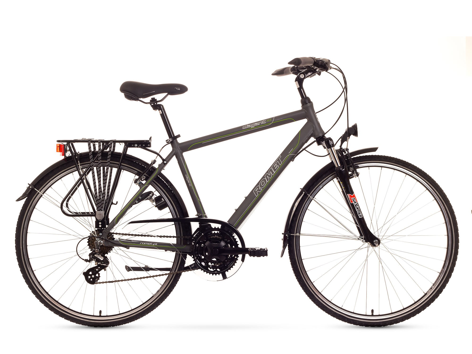 Bicicleta Trekking Romet Wagant 1.0 - grafit