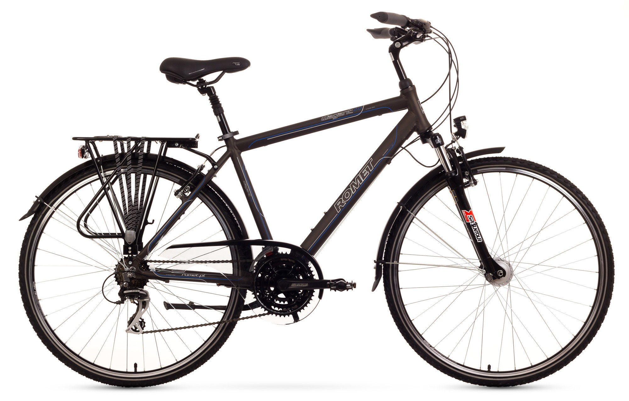 Bicicleta Trekking Romet Wagant 2.0 - maro