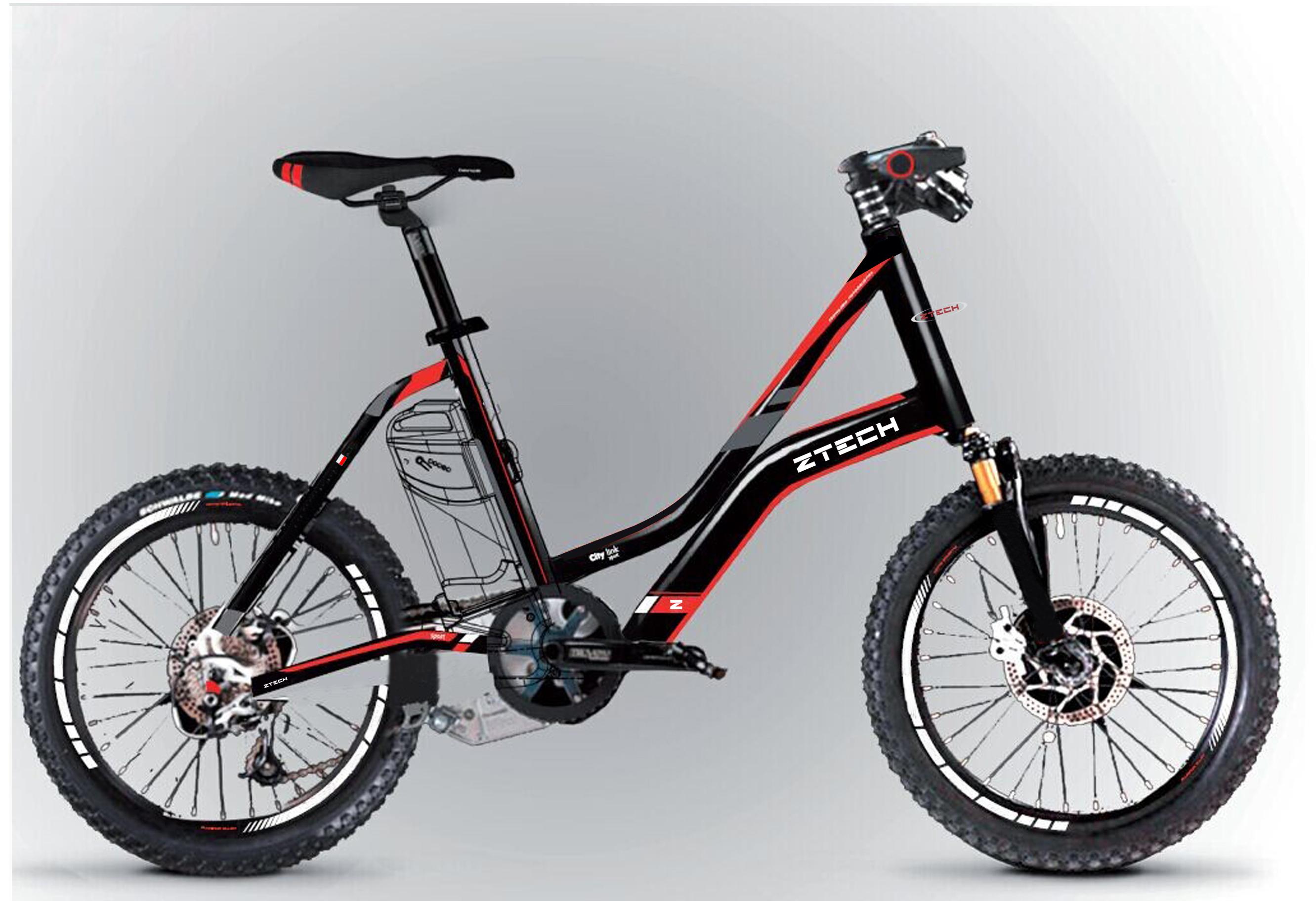Bicicleta electrica pliabila Ztech ZT-72 Citylink Sport